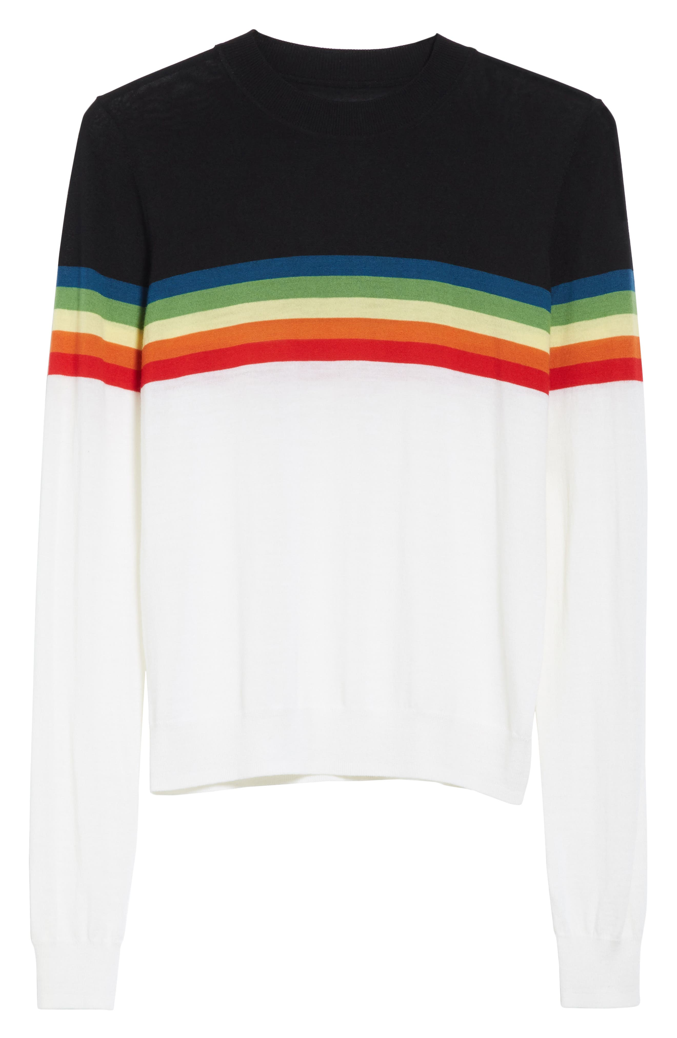 Diane von Furstenberg Rainbow Sweater,                             Alternate thumbnail 6, color,                             107