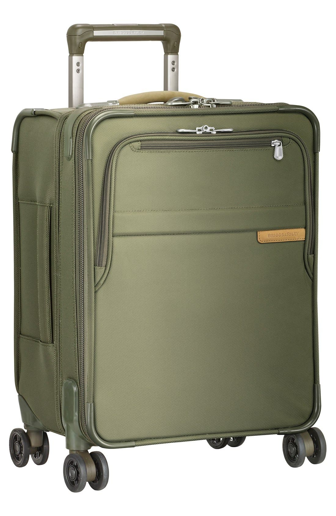 'Baseline - Commuter' Expandable Rolling Carry-On,                         Main,                         color, OLIVE