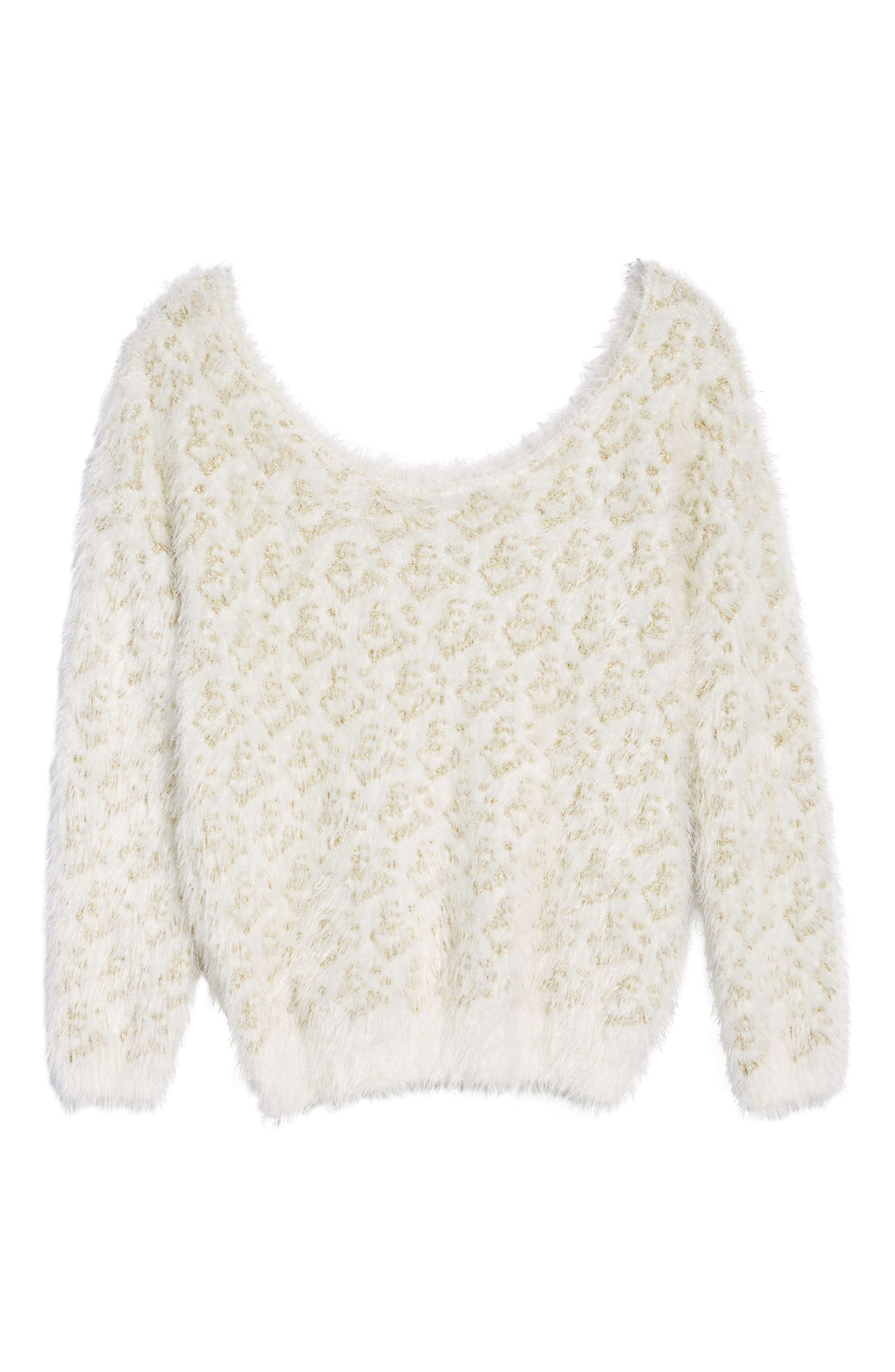 Cassidy Fuzzy Eyelash Sweater,                             Alternate thumbnail 6, color,                             710