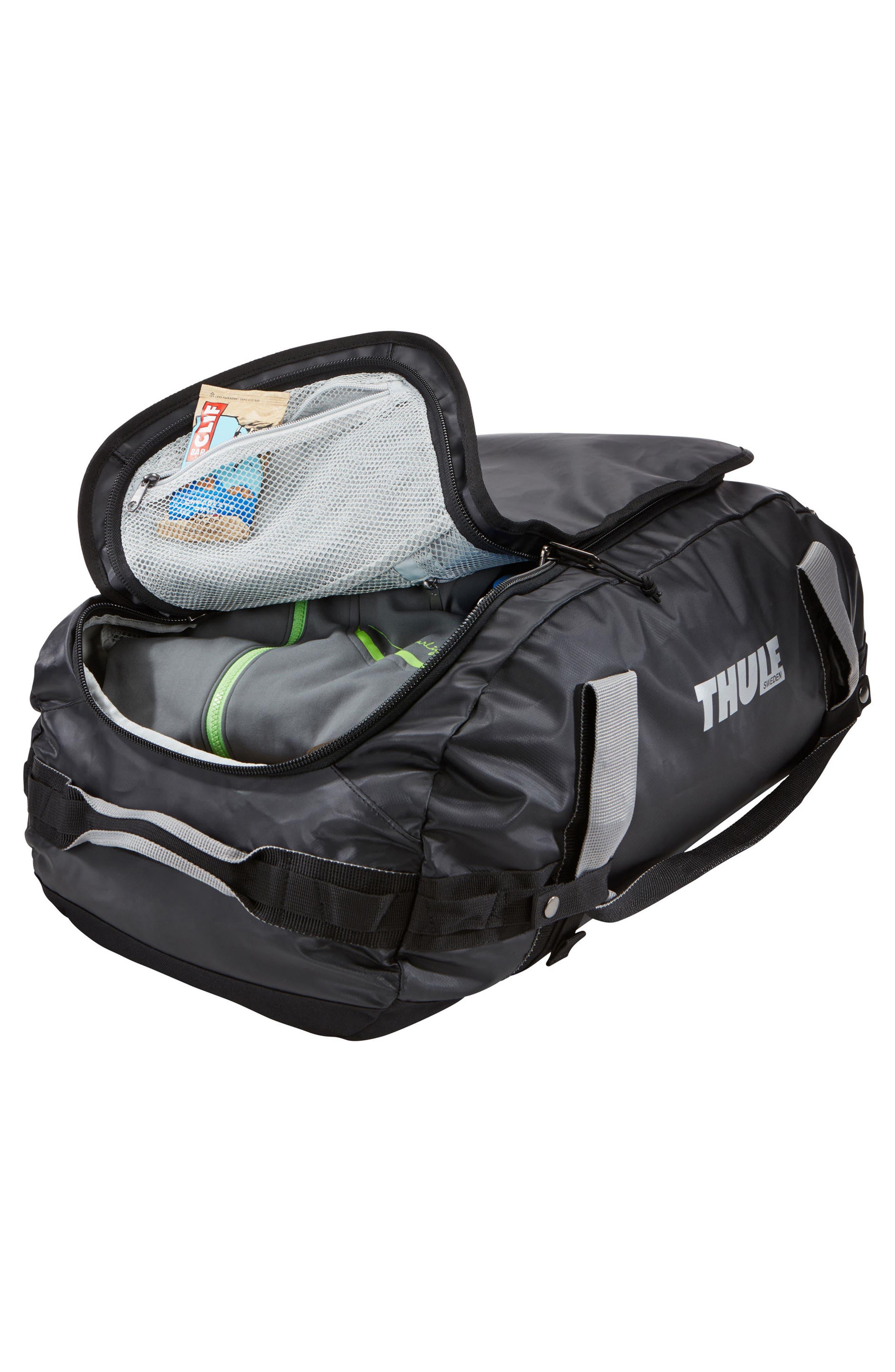 Chasm 130-Liter Convertible Duffel Bag,                             Alternate thumbnail 2, color,                             BLACK