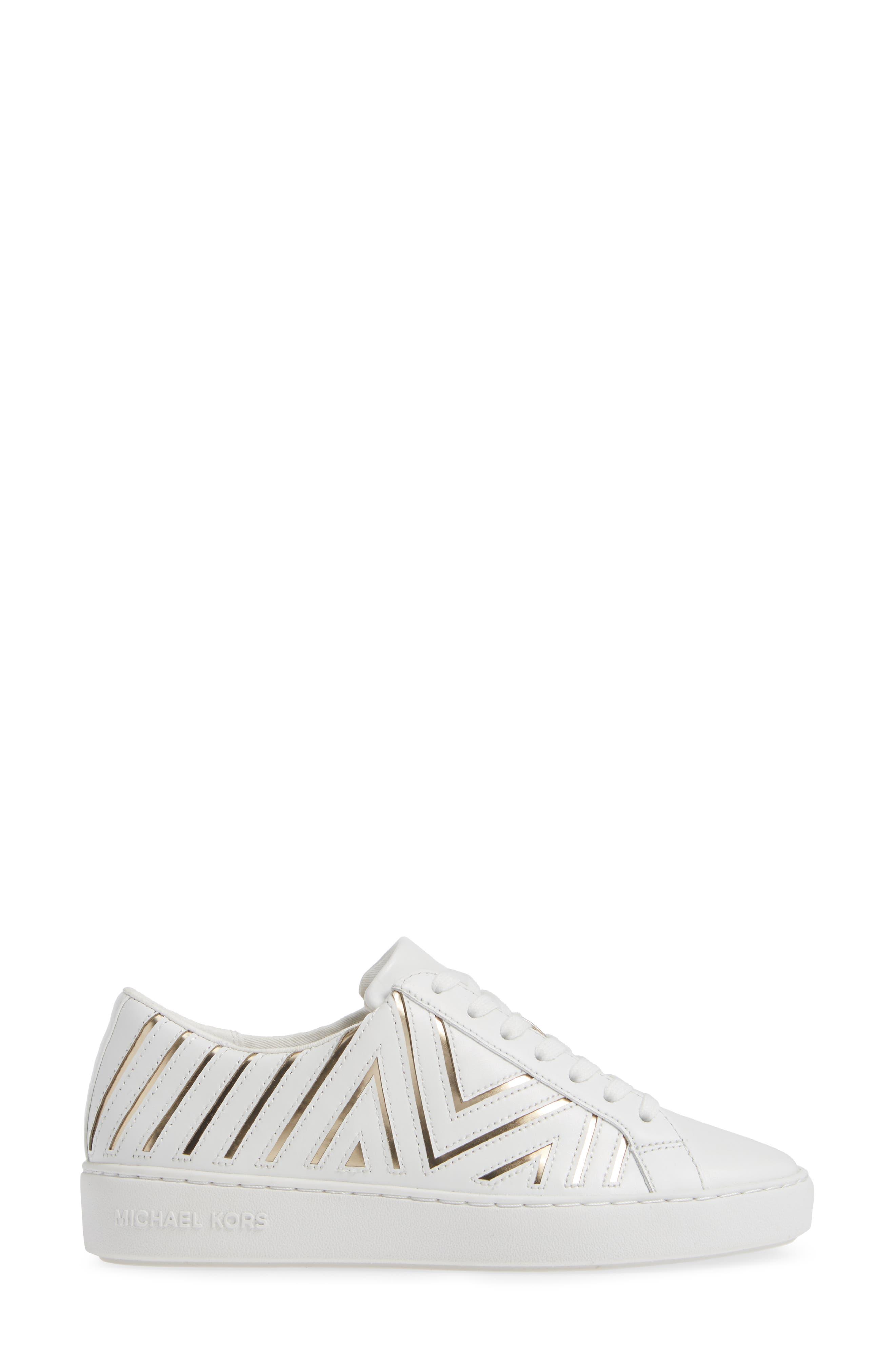 MICHAEL MICHAEL KORS,                             Whitney Sneaker,                             Alternate thumbnail 3, color,                             100