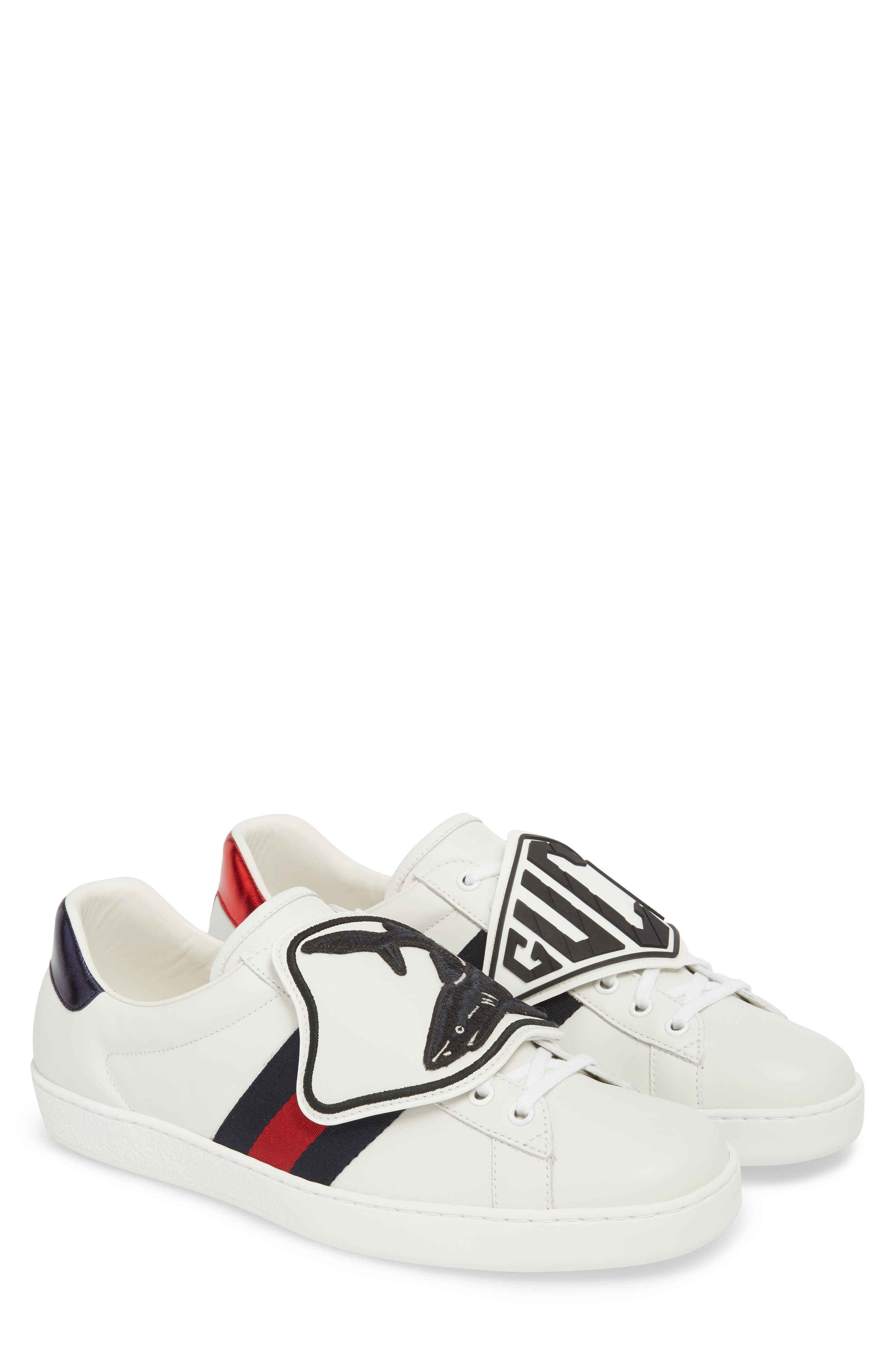 New Ace Patch Sneaker,                             Alternate thumbnail 2, color,                             BIANCO/ WHITE