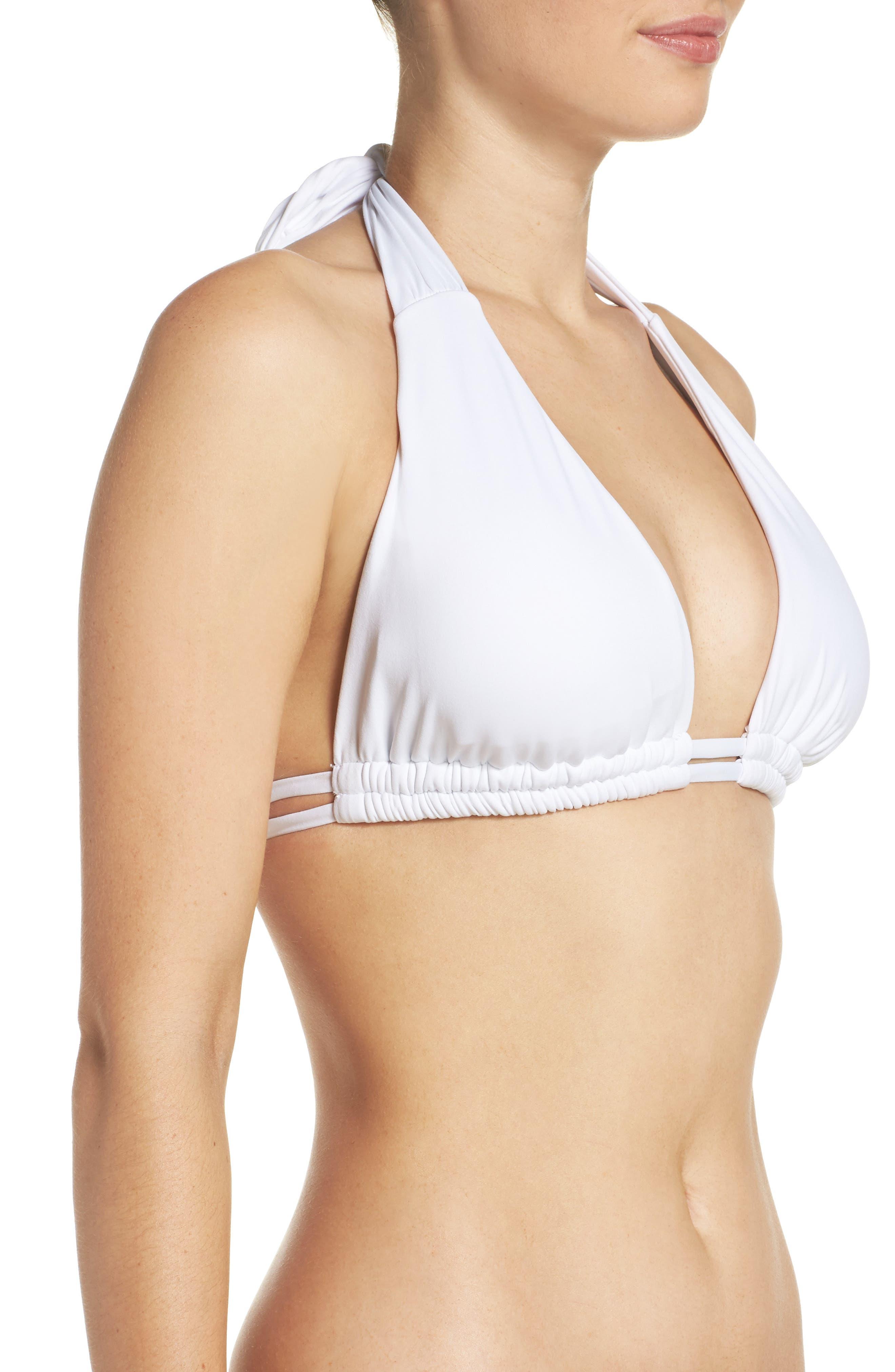 Color Code Halter Bikini Top,                             Alternate thumbnail 3, color,                             100