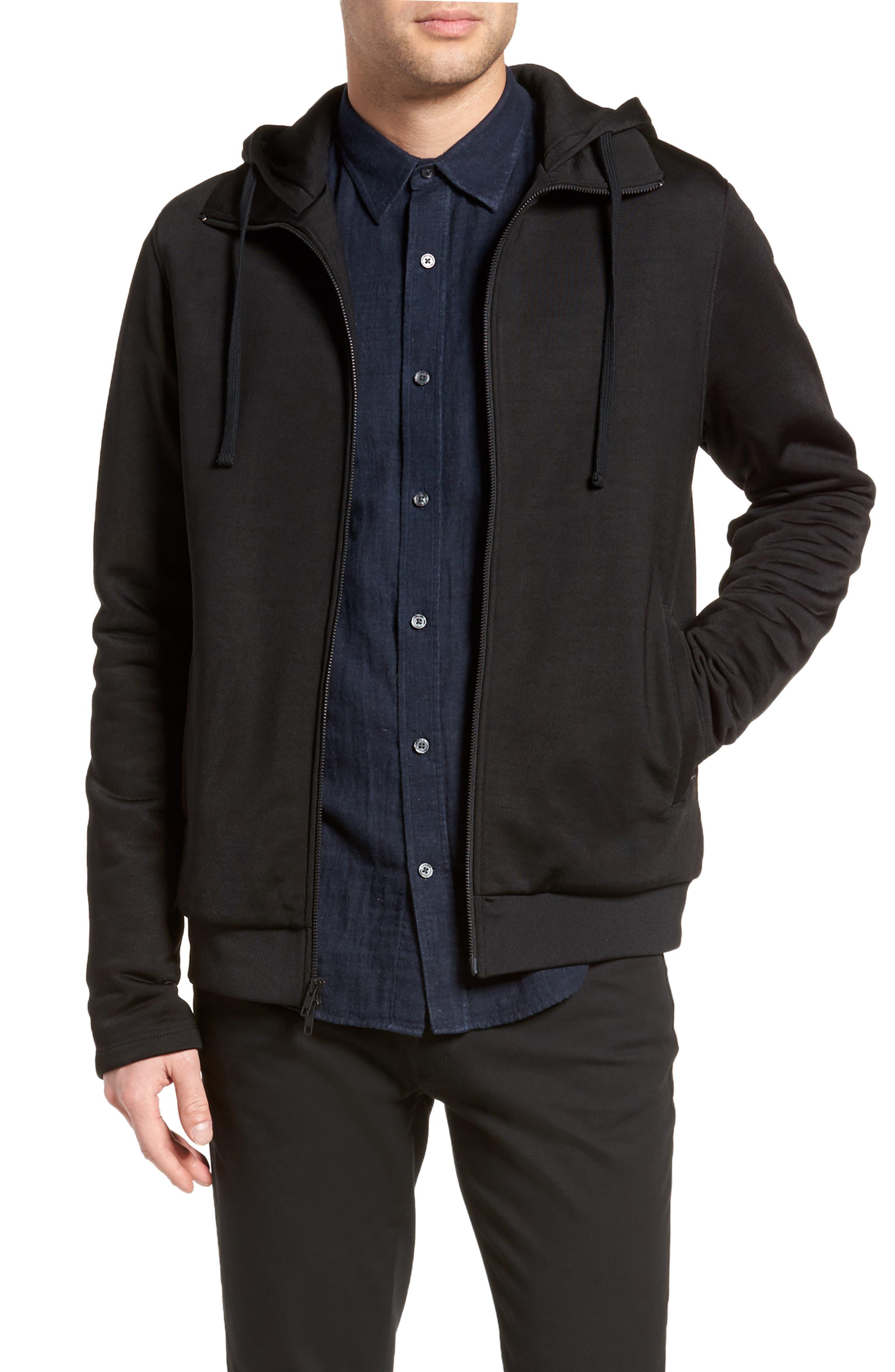 Regular Fit Zip Hoodie,                         Main,                         color, 001