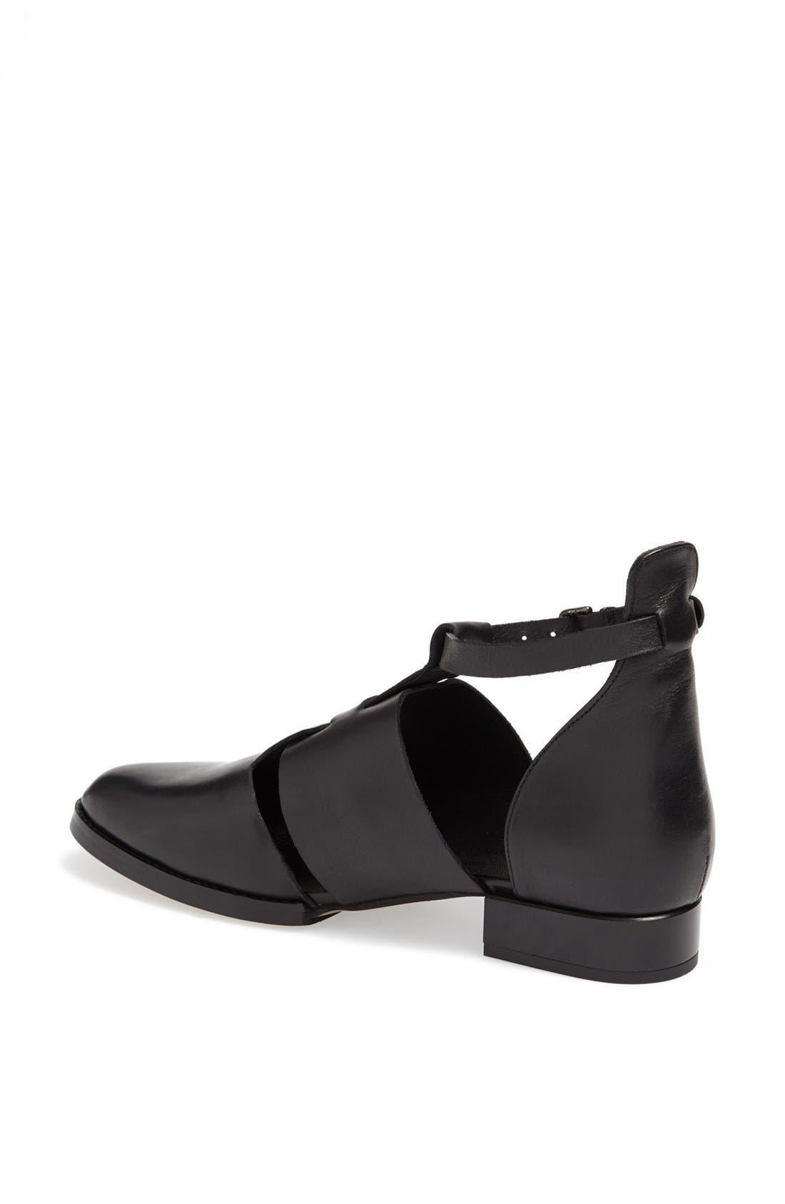 'Kapa' Cutout Shoe,                             Alternate thumbnail 4, color,                             001