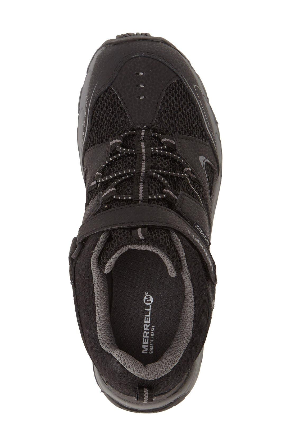 'Hilltop' Waterproof Sneaker,                             Alternate thumbnail 3, color,                             001