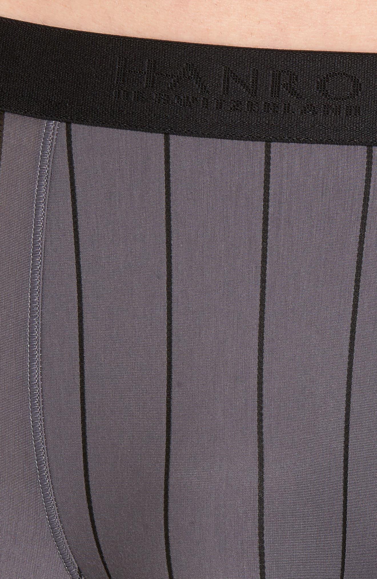 Shadow Cotton Blend Boxer Briefs,                             Alternate thumbnail 4, color,                             EBONY