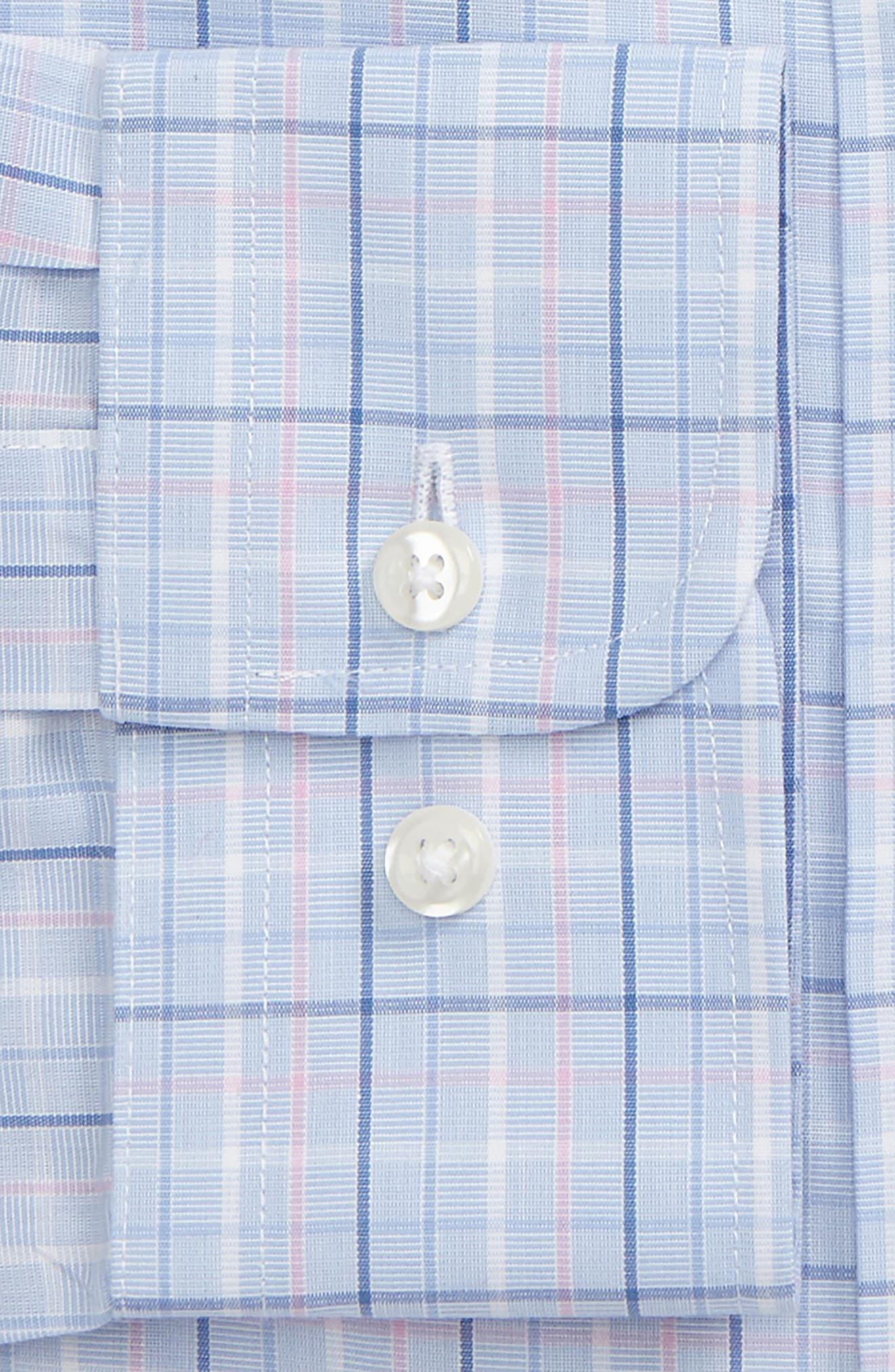 Smartcare<sup>™</sup> Trim Fit Plaid Dress Shirt,                             Alternate thumbnail 2, color,                             680