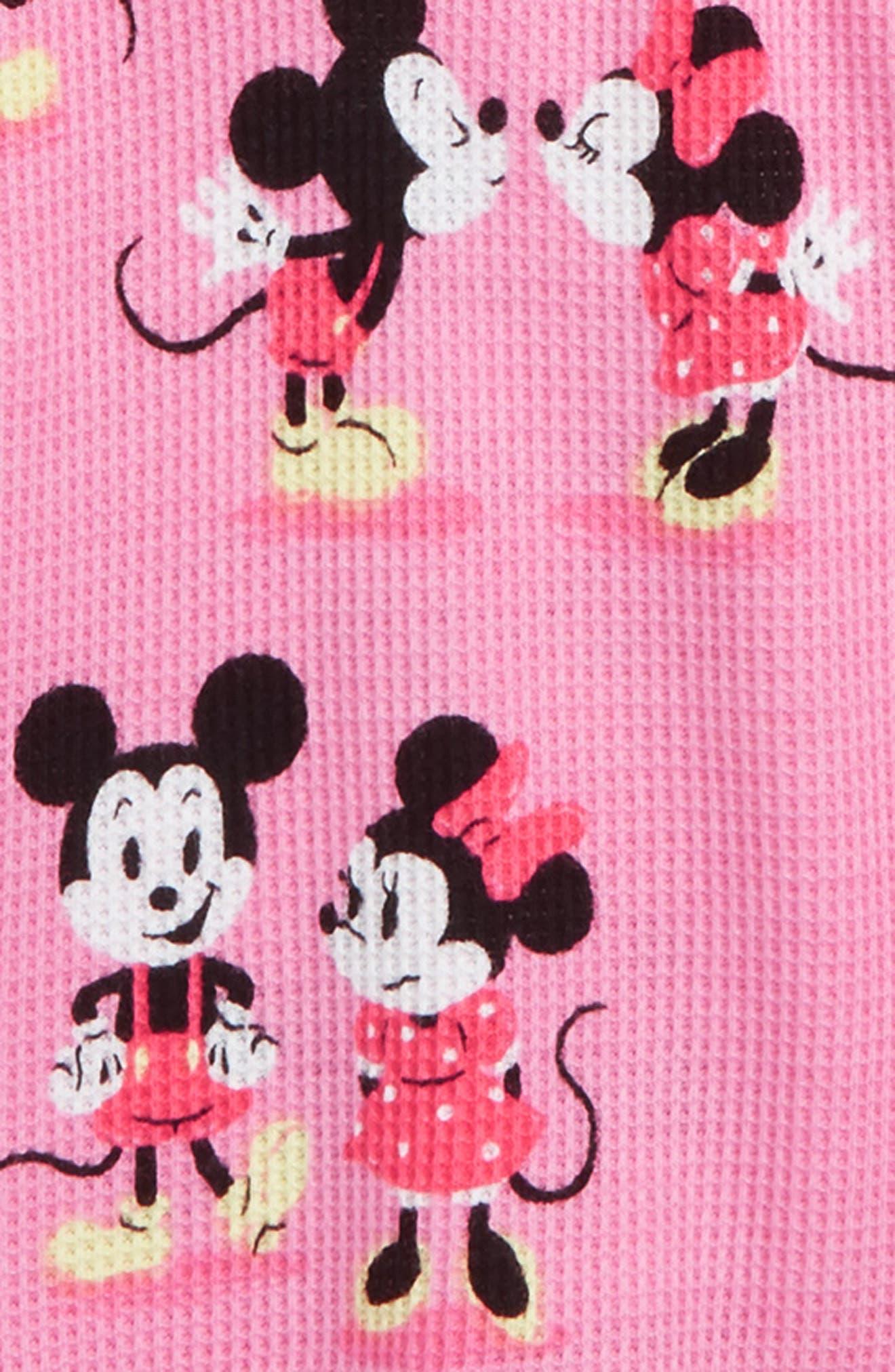 MUNKI MUNKI,                             Minnie Mickey Fitted Two-Piece Pajamas,                             Alternate thumbnail 2, color,                             650