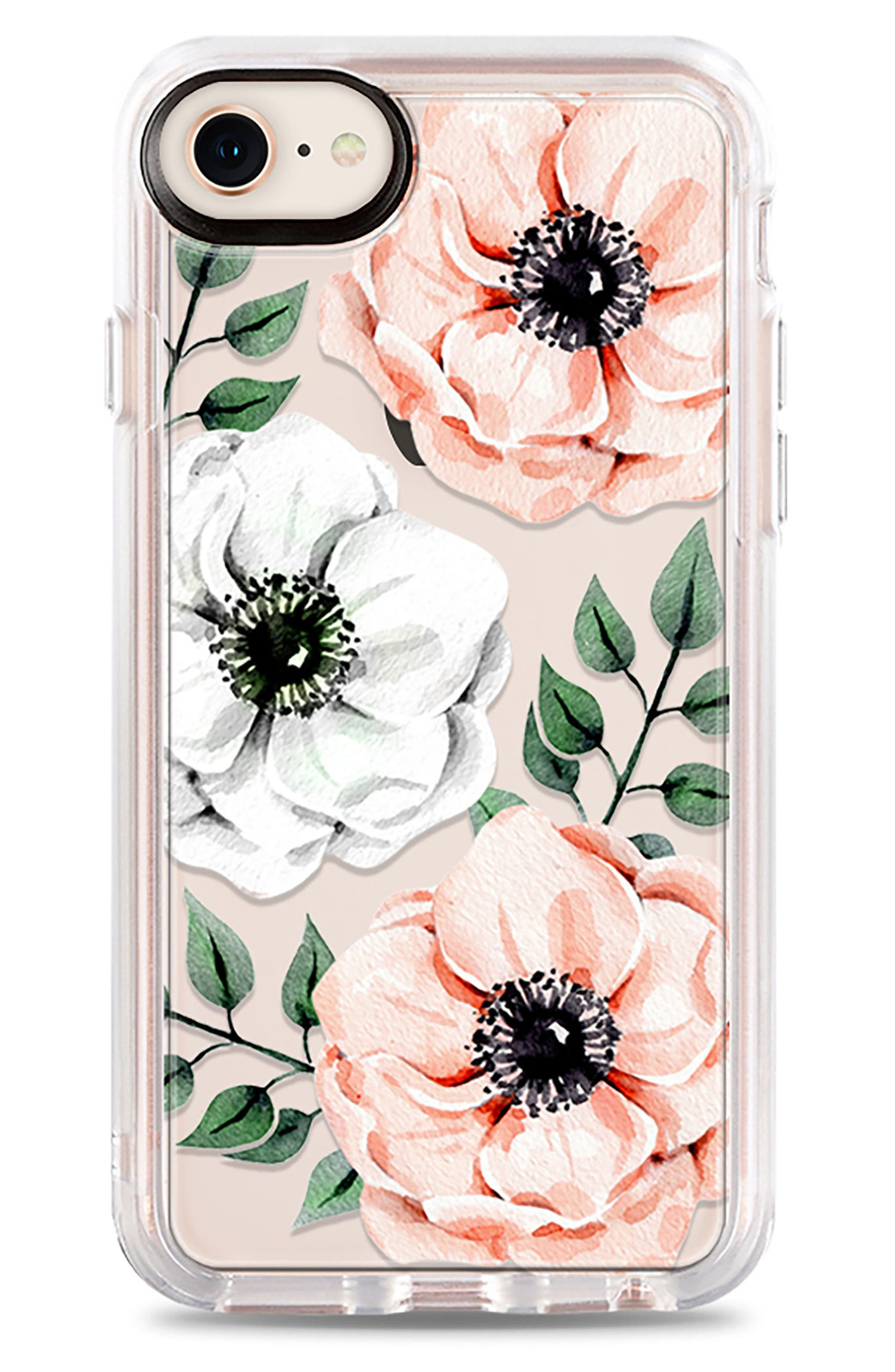 Watercolor Grip iPhone 7/8 & 7/8 Plus Case,                             Main thumbnail 1, color,                             PINK AND WHITE