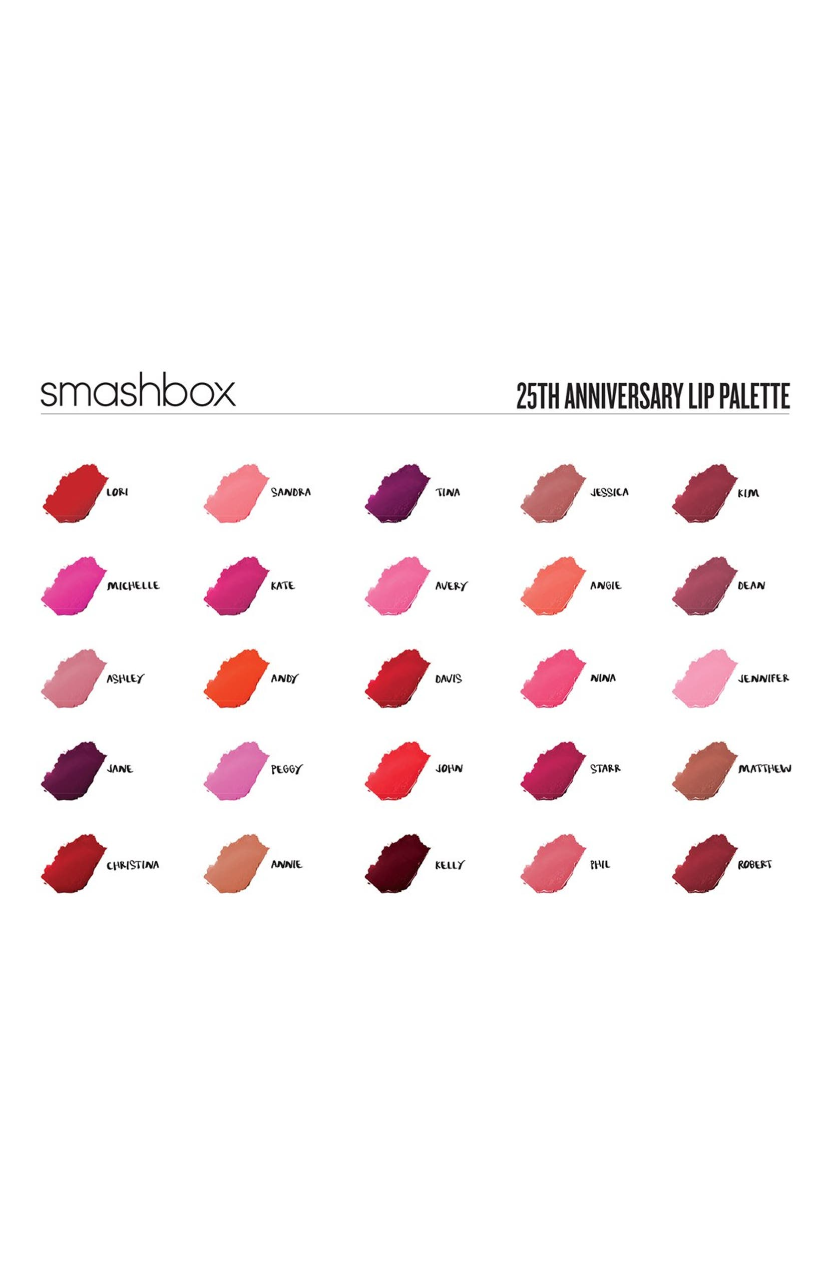 Smashbox Be Legendary For 25 Years Our Lips Have Been Sealed Lip Matte Lipstick Palettelimited Edition Palette Limited Nordstrom