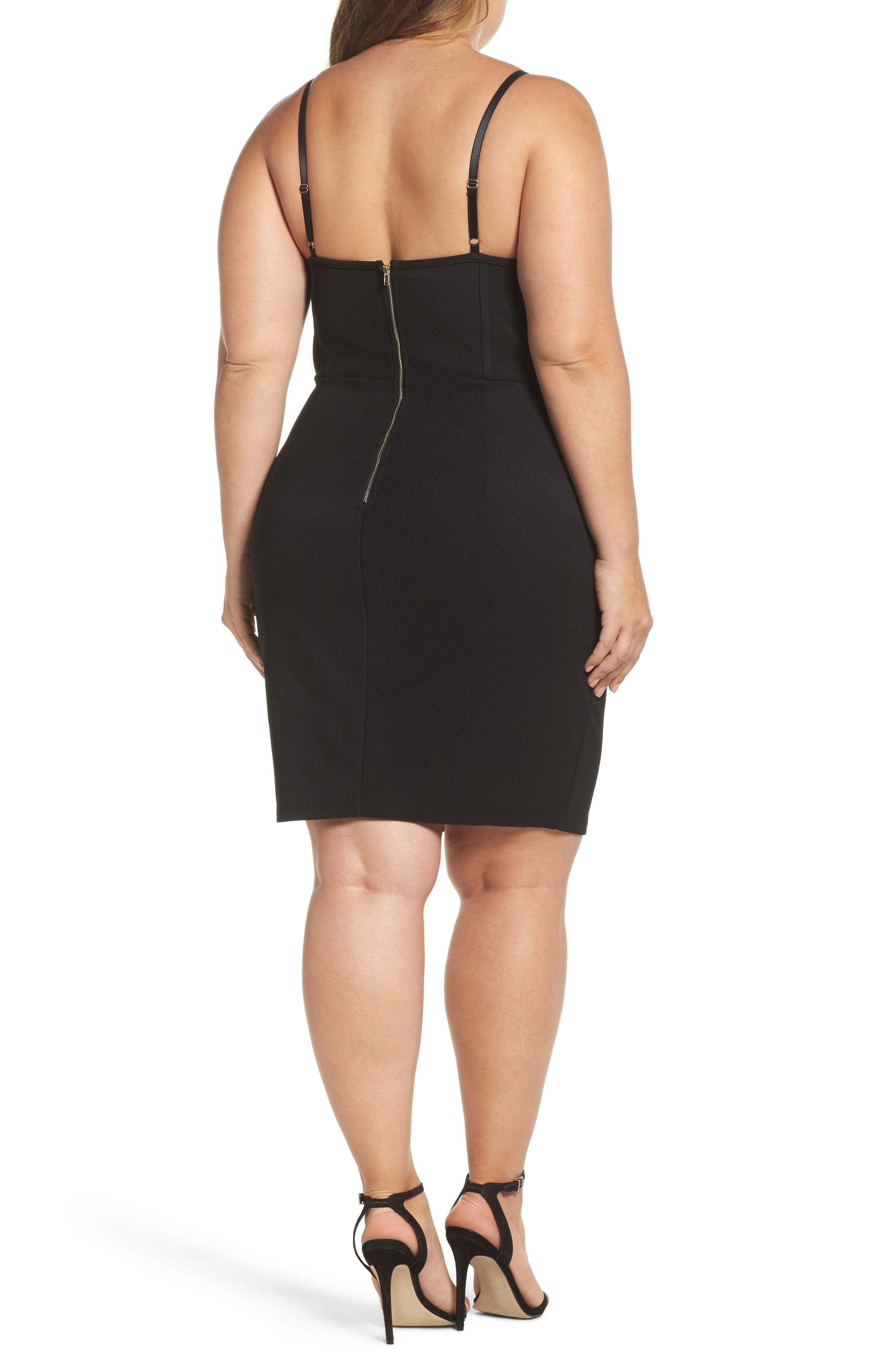 Corset Body-Con Dress,                             Alternate thumbnail 2, color,                             001