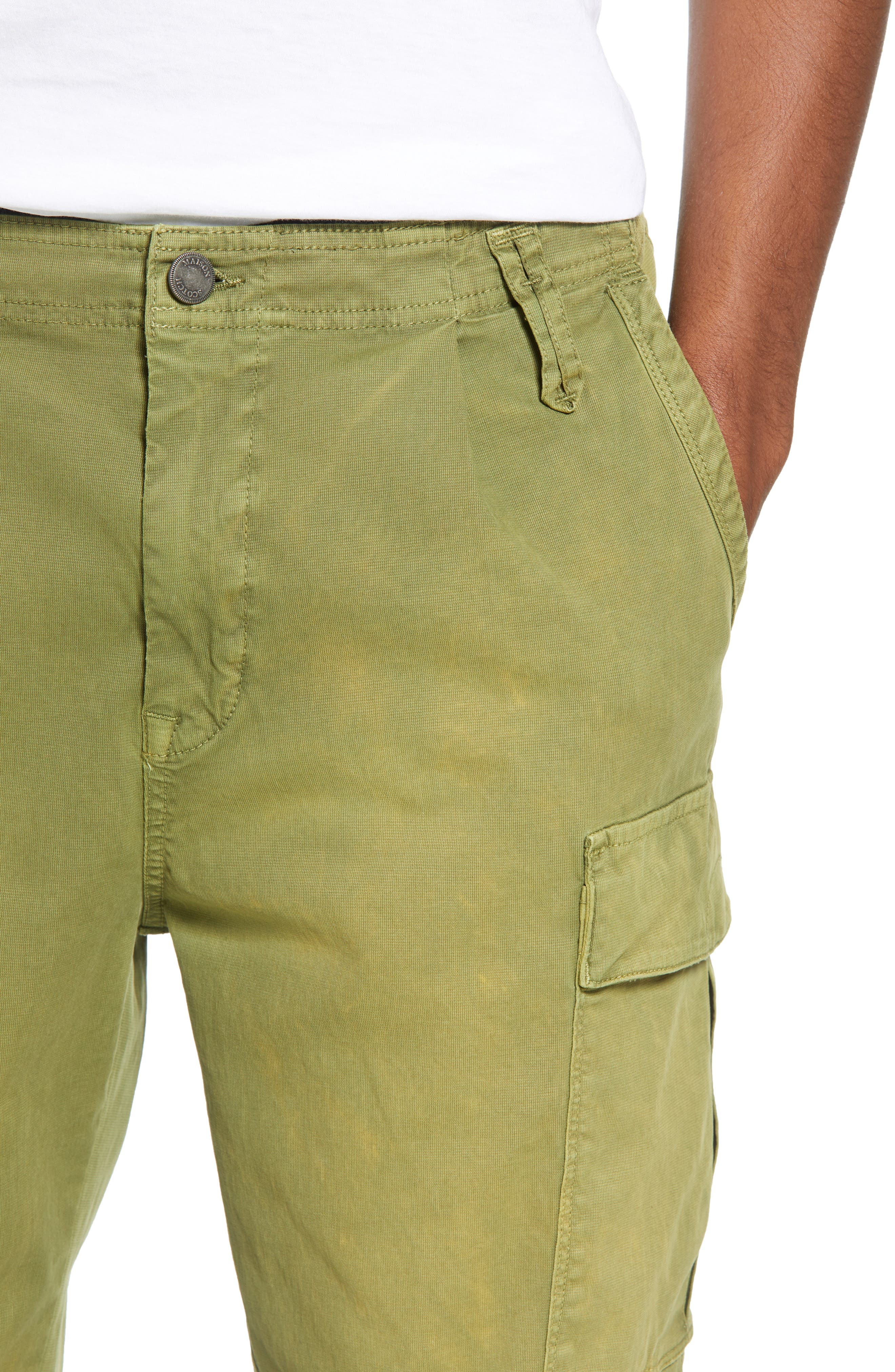 SCOTCH & SODA,                             Loose Taper Fit Washed Cargo Pants,                             Alternate thumbnail 4, color,                             MILITARY