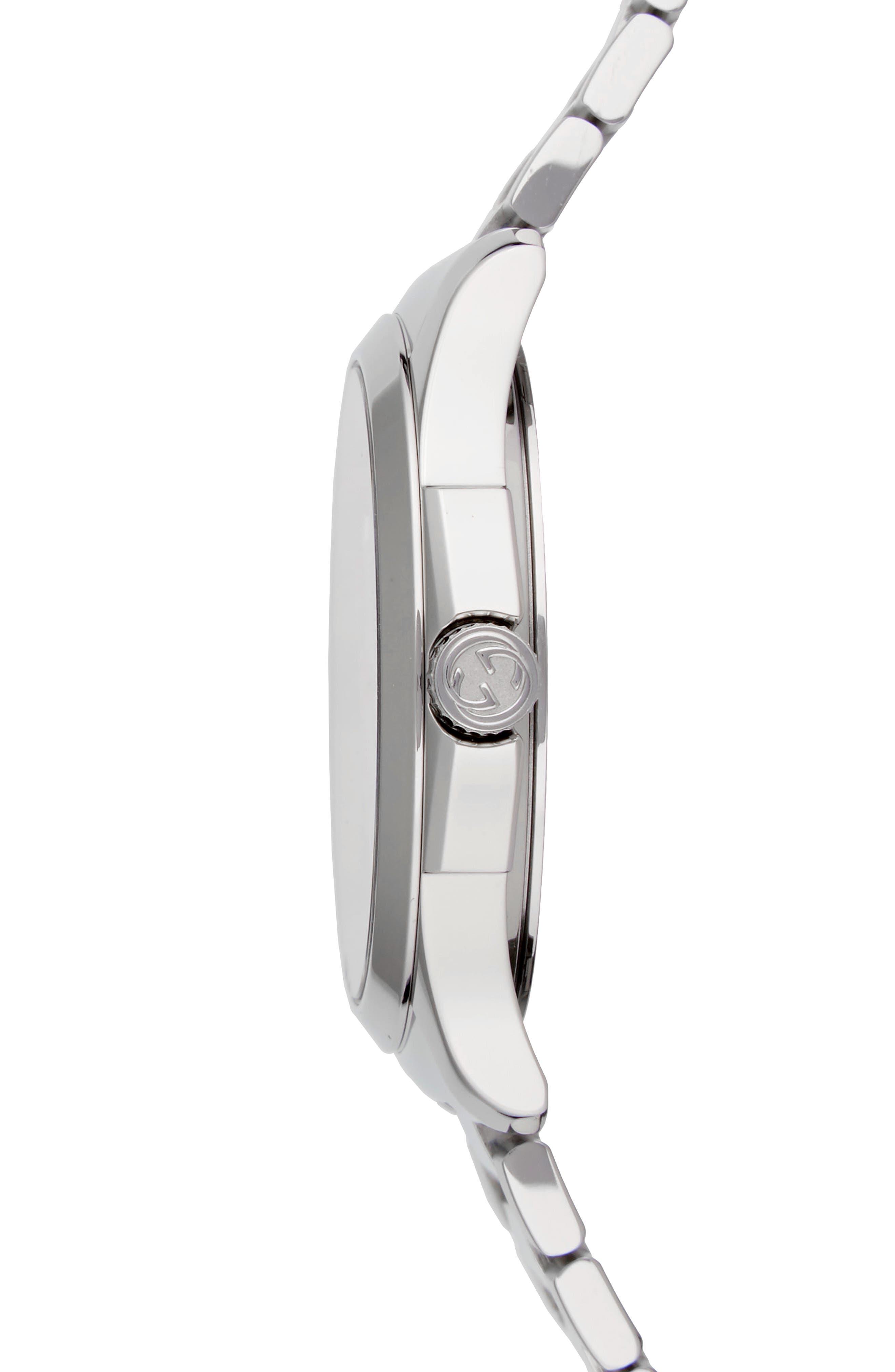 G-Timeless Bracelet Watch, 38mm,                             Alternate thumbnail 3, color,                             SILVER
