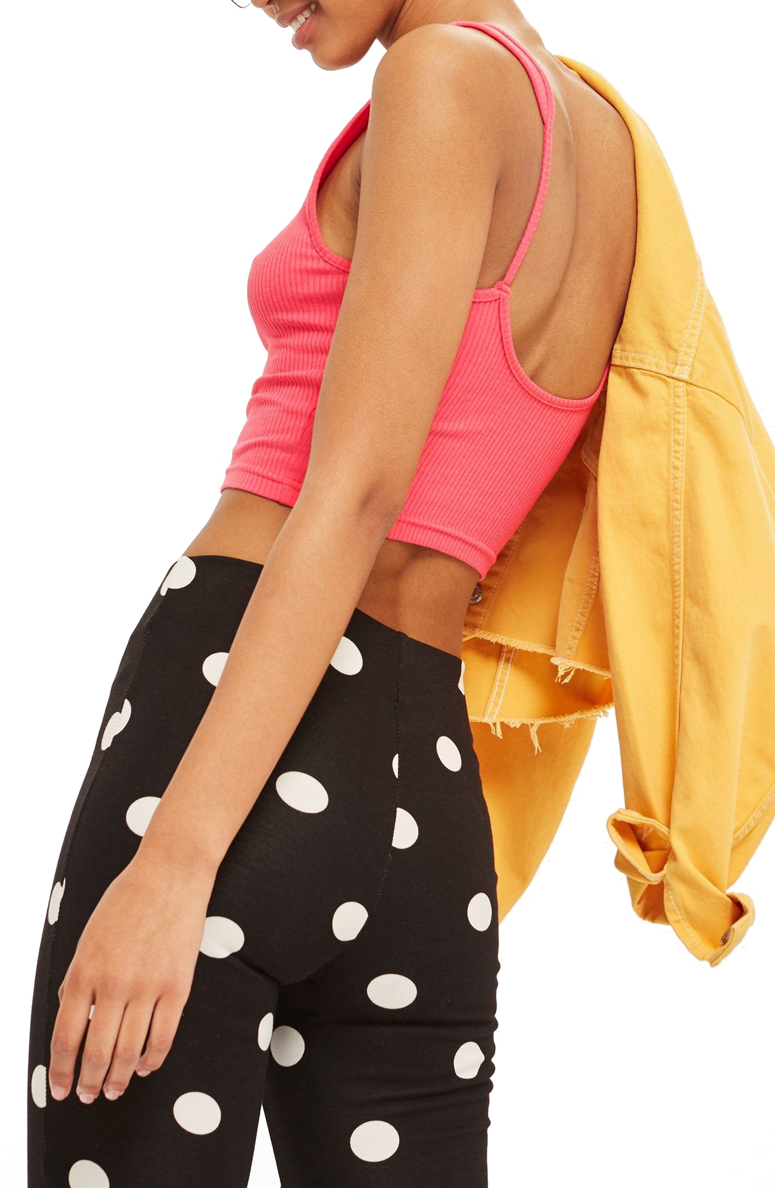 Strappy Scoopback Crop Tank,                             Alternate thumbnail 6, color,