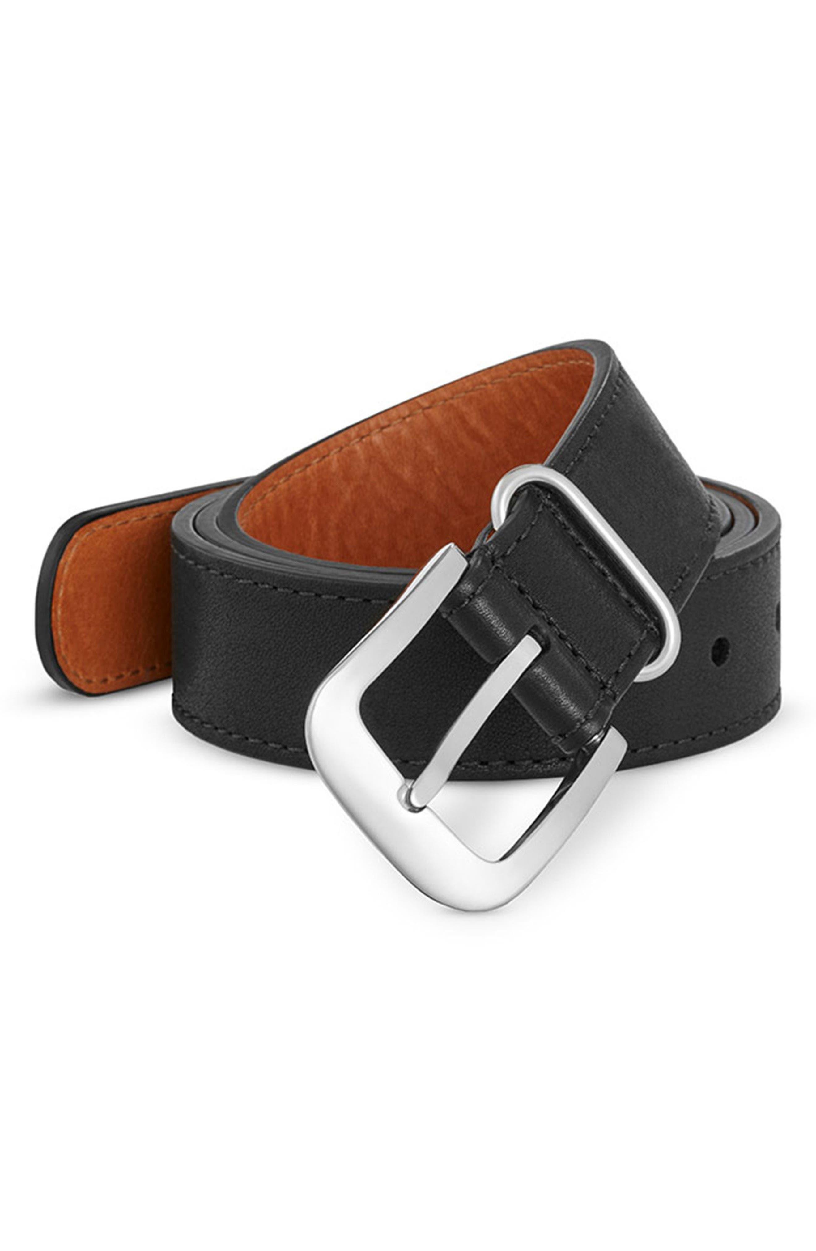 G10 Leather Belt,                             Alternate thumbnail 2, color,                             001