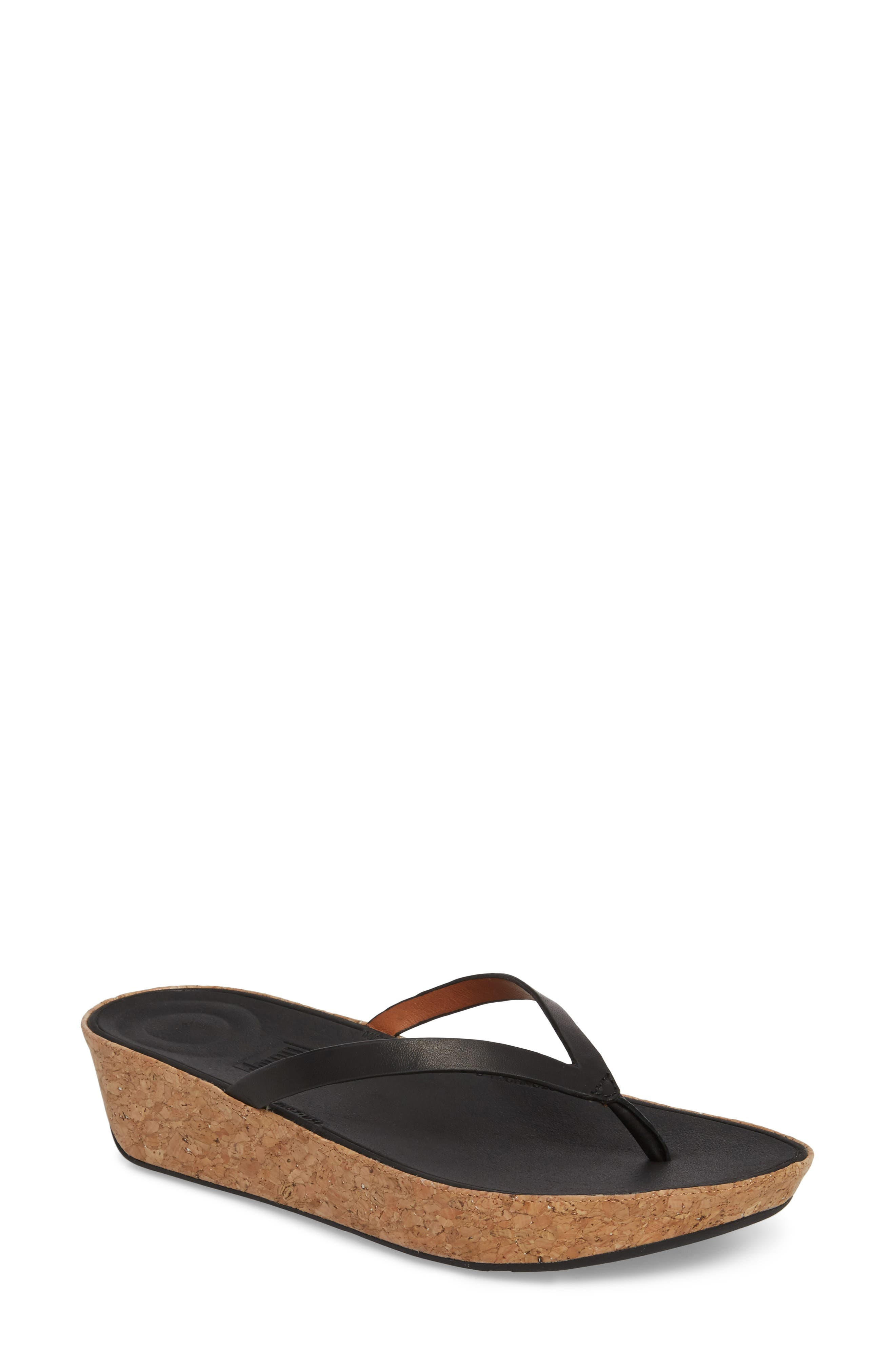 FITFLOP,                             Linny Wedge Flip Flop,                             Main thumbnail 1, color,                             001