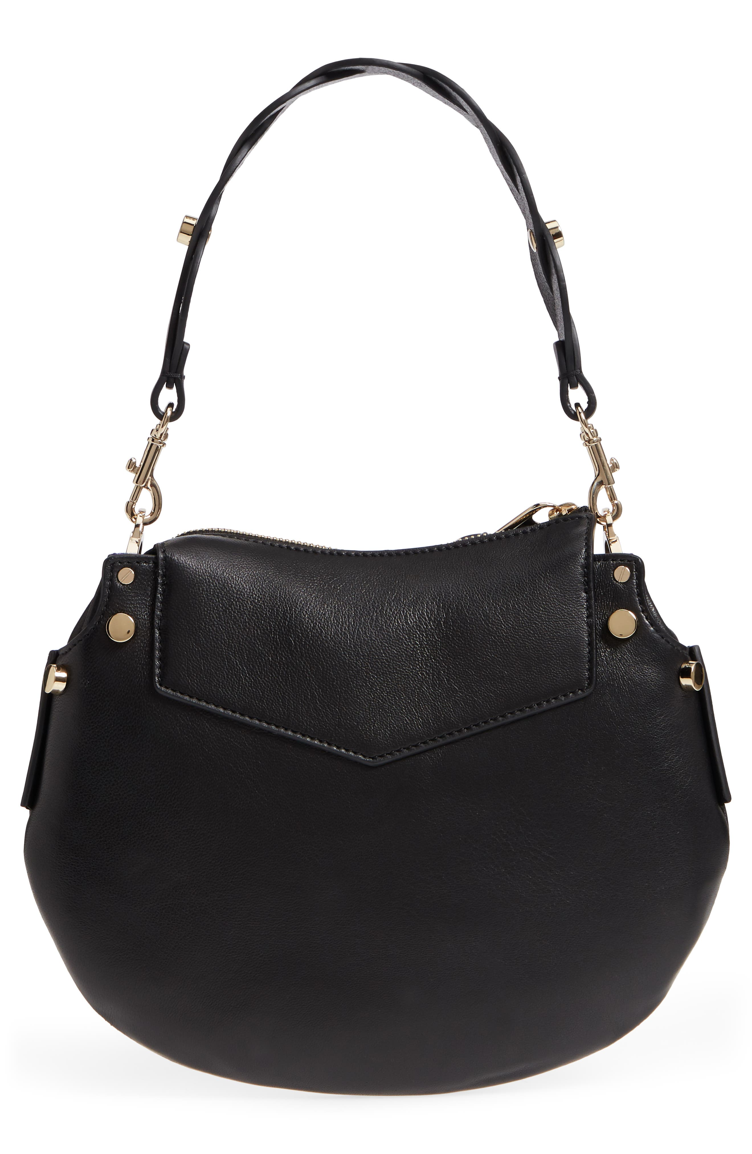 Mini Artie Leather Crossbody Bag,                             Alternate thumbnail 4, color,                             001