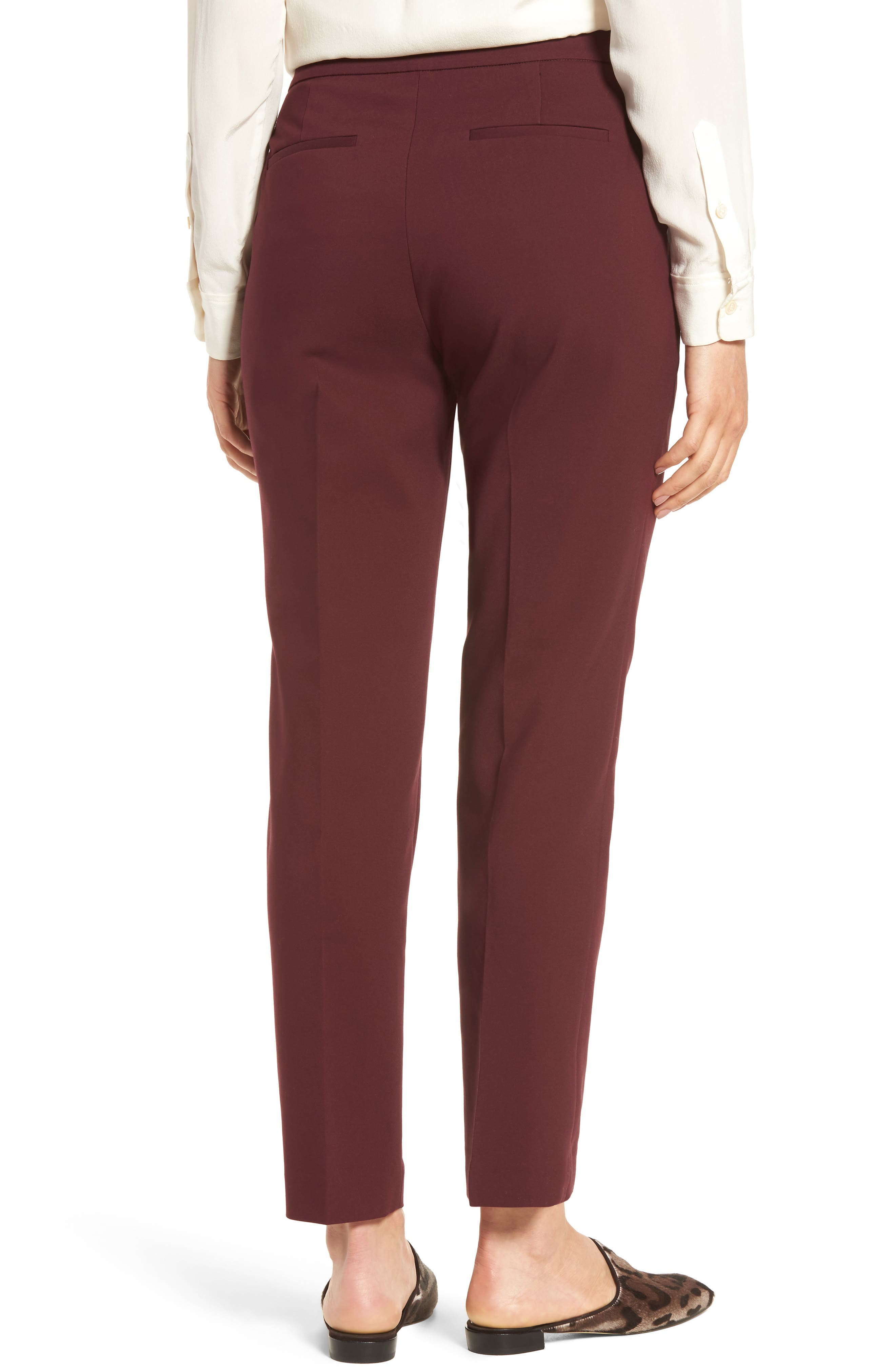 Jackie Pull-On Ankle Pants,                             Alternate thumbnail 4, color,