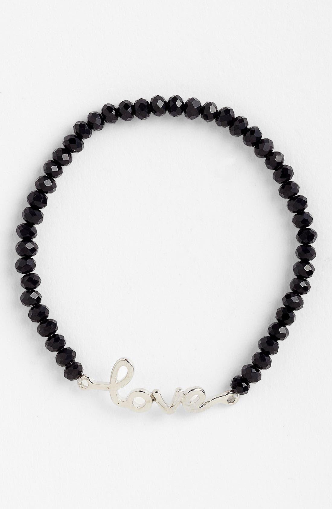 GUINEVERE 'Love' Script Bracelet, Main, color, 001