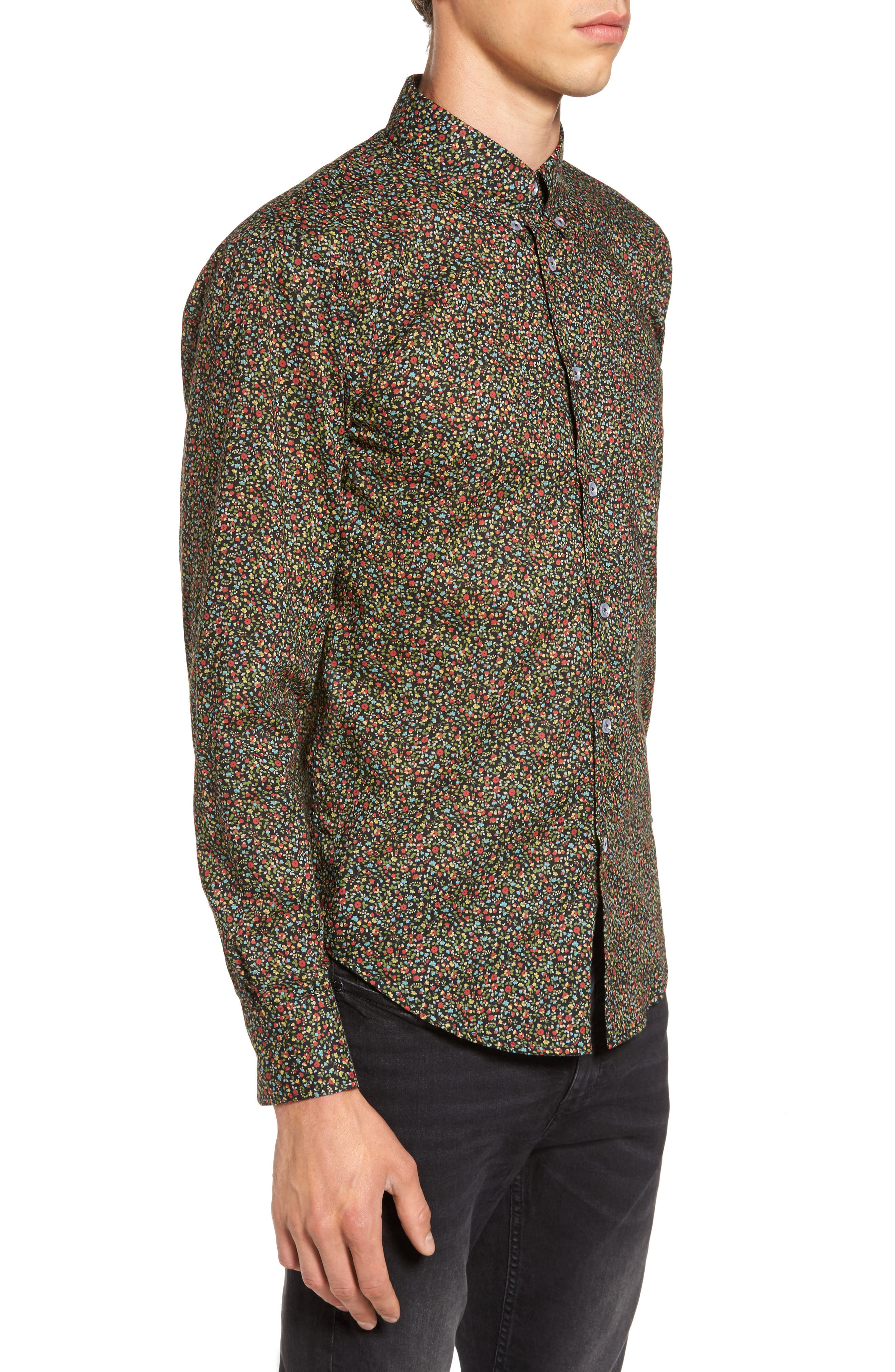 Naked & Famous Floral Shirt,                             Alternate thumbnail 3, color,