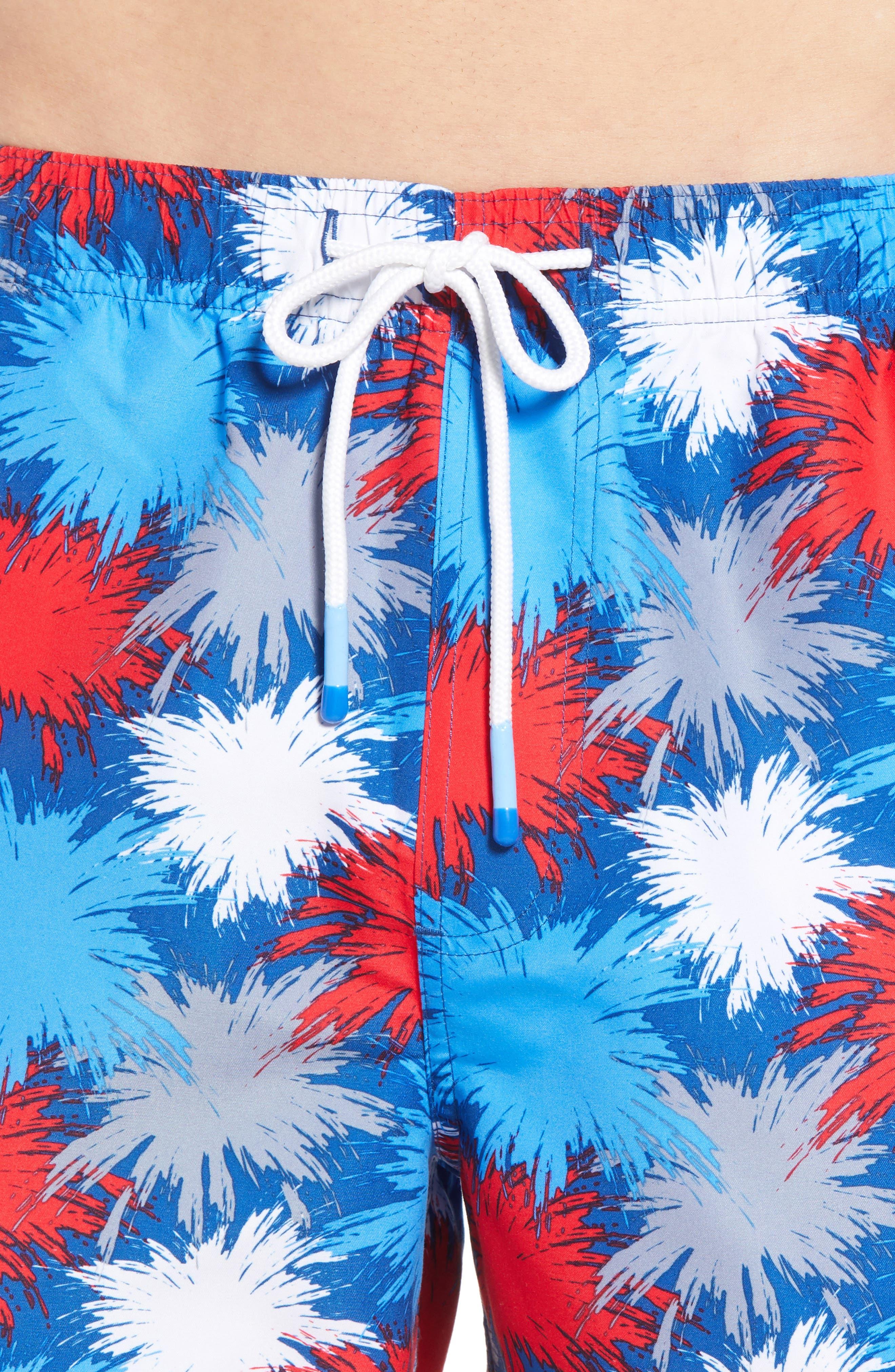 Fireworks Swim Trunks,                             Alternate thumbnail 4, color,                             425