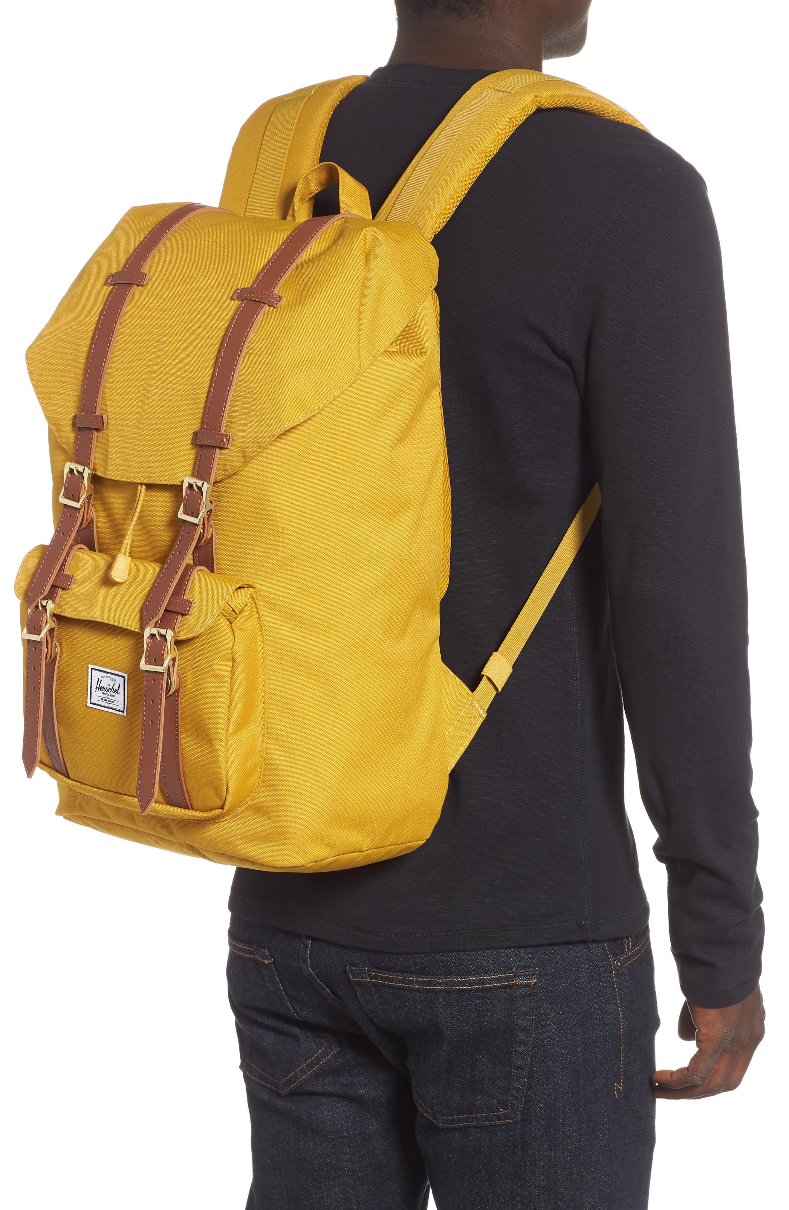 Little America Backpack,                             Alternate thumbnail 2, color,                             ARROW WOOD/ TAN LEATHER