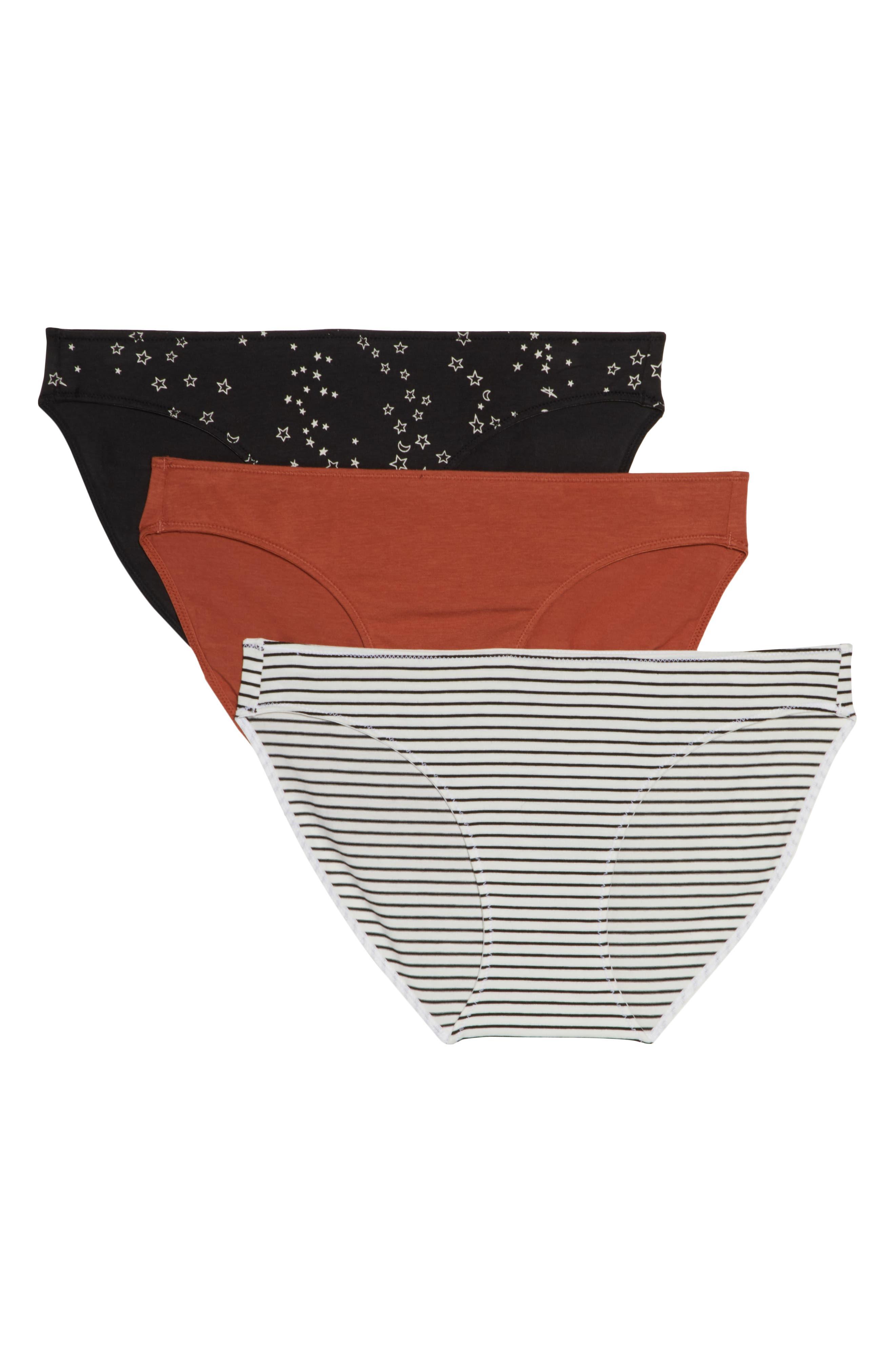 3-Pack Bikini,                         Main,                         color, TWISTED RED STRIPE