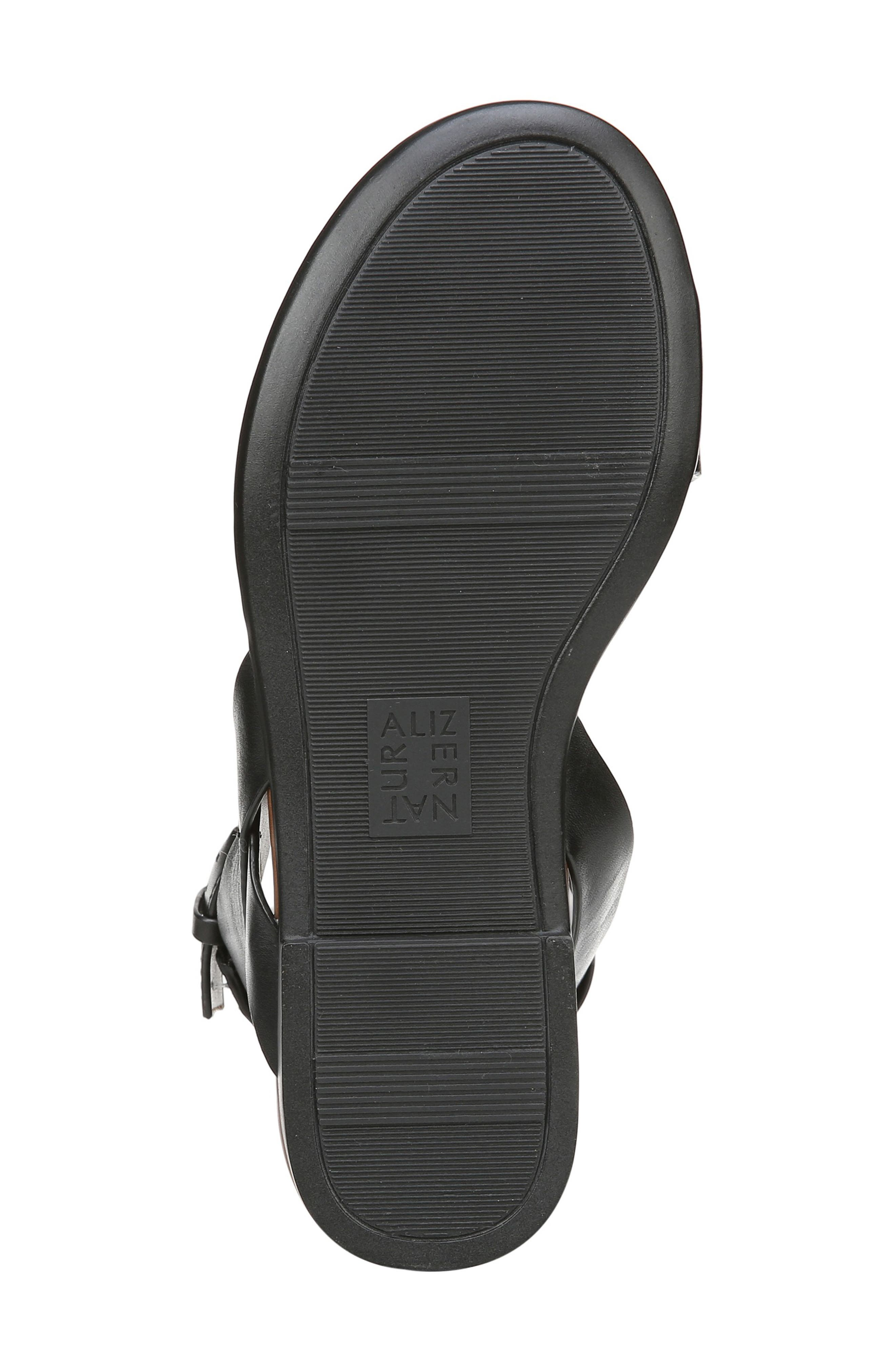 Tally Ankle Strap Sandal,                             Alternate thumbnail 6, color,                             BLACK LEATHER