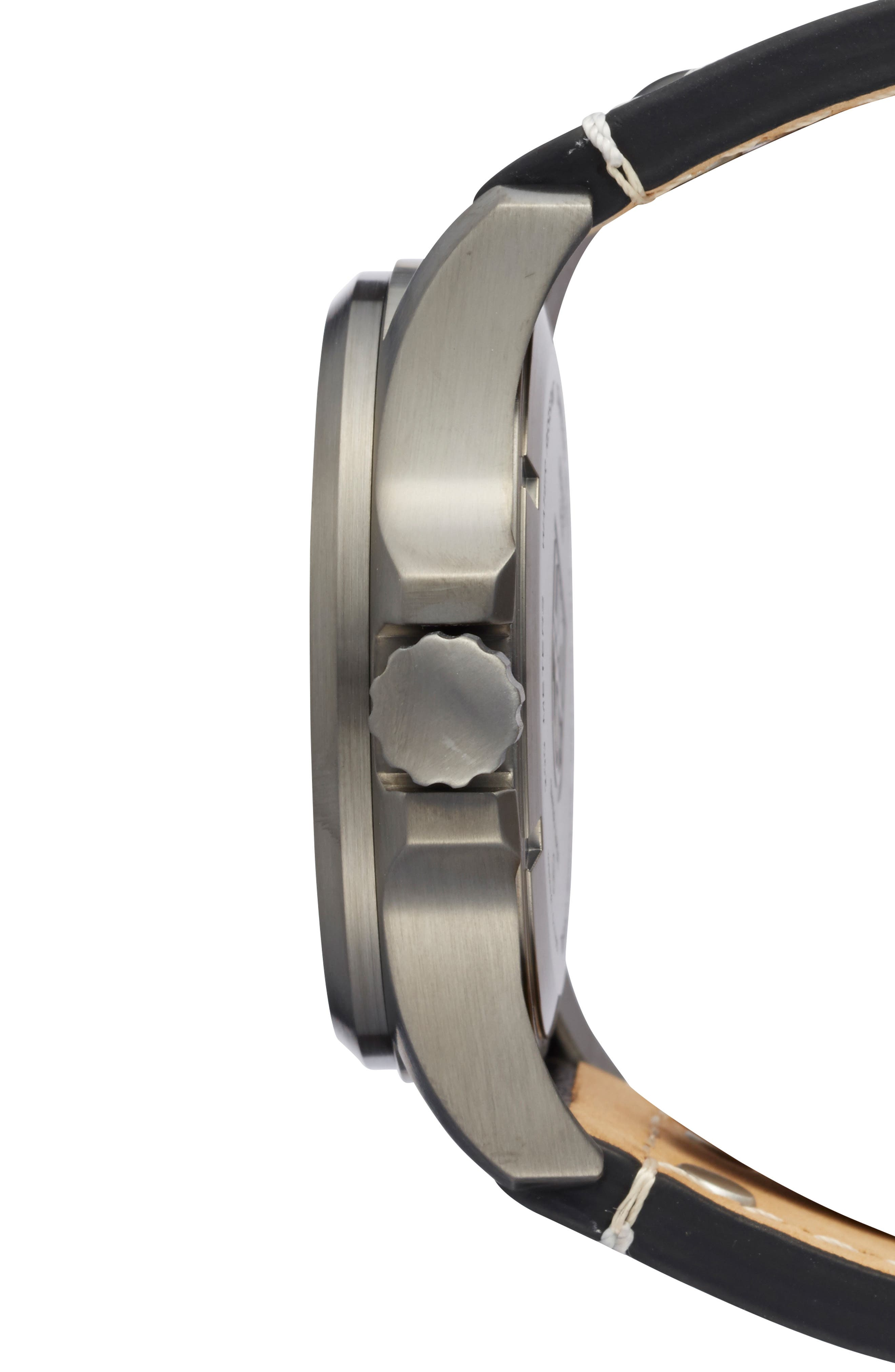 'Land - Atacama Field' Leather Strap Watch, 45mm,                             Alternate thumbnail 5, color,