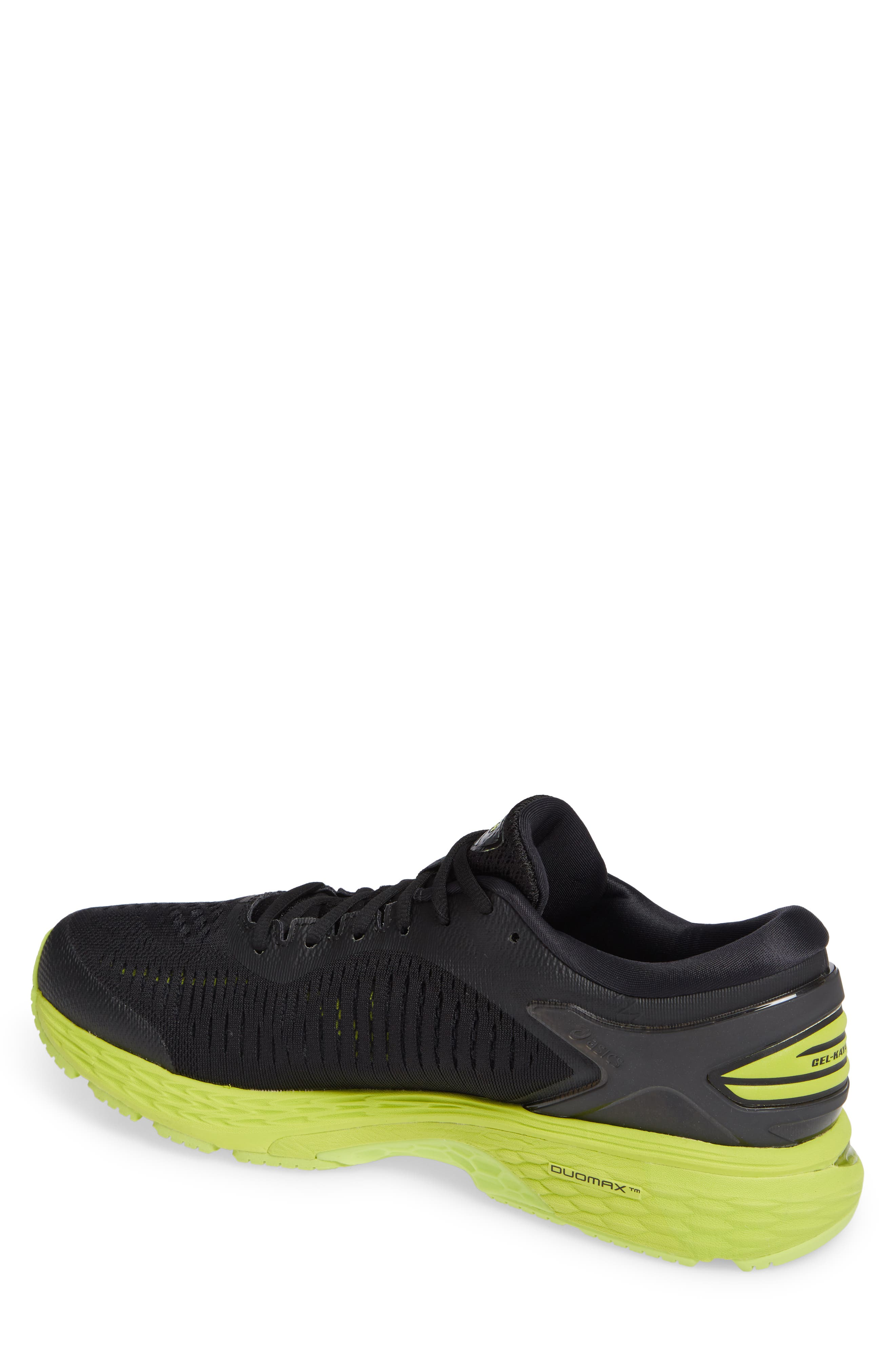 GEL-Kayano<sup>®</sup> 25 Running Shoe,                             Alternate thumbnail 2, color,                             BLACK/ NEON LIME