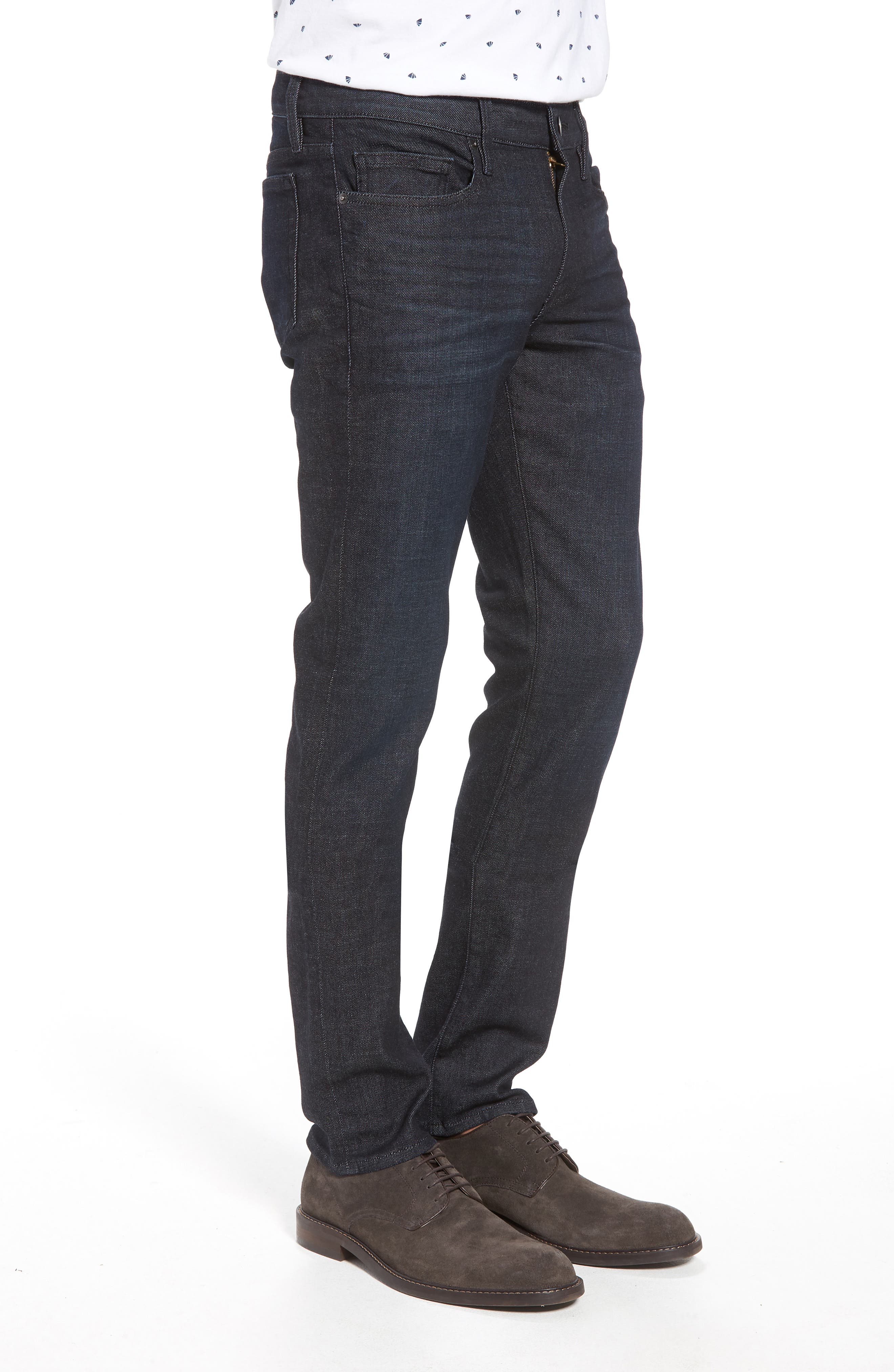 L'Homme Skinny Jeans,                             Alternate thumbnail 3, color,                             MANHATTAN