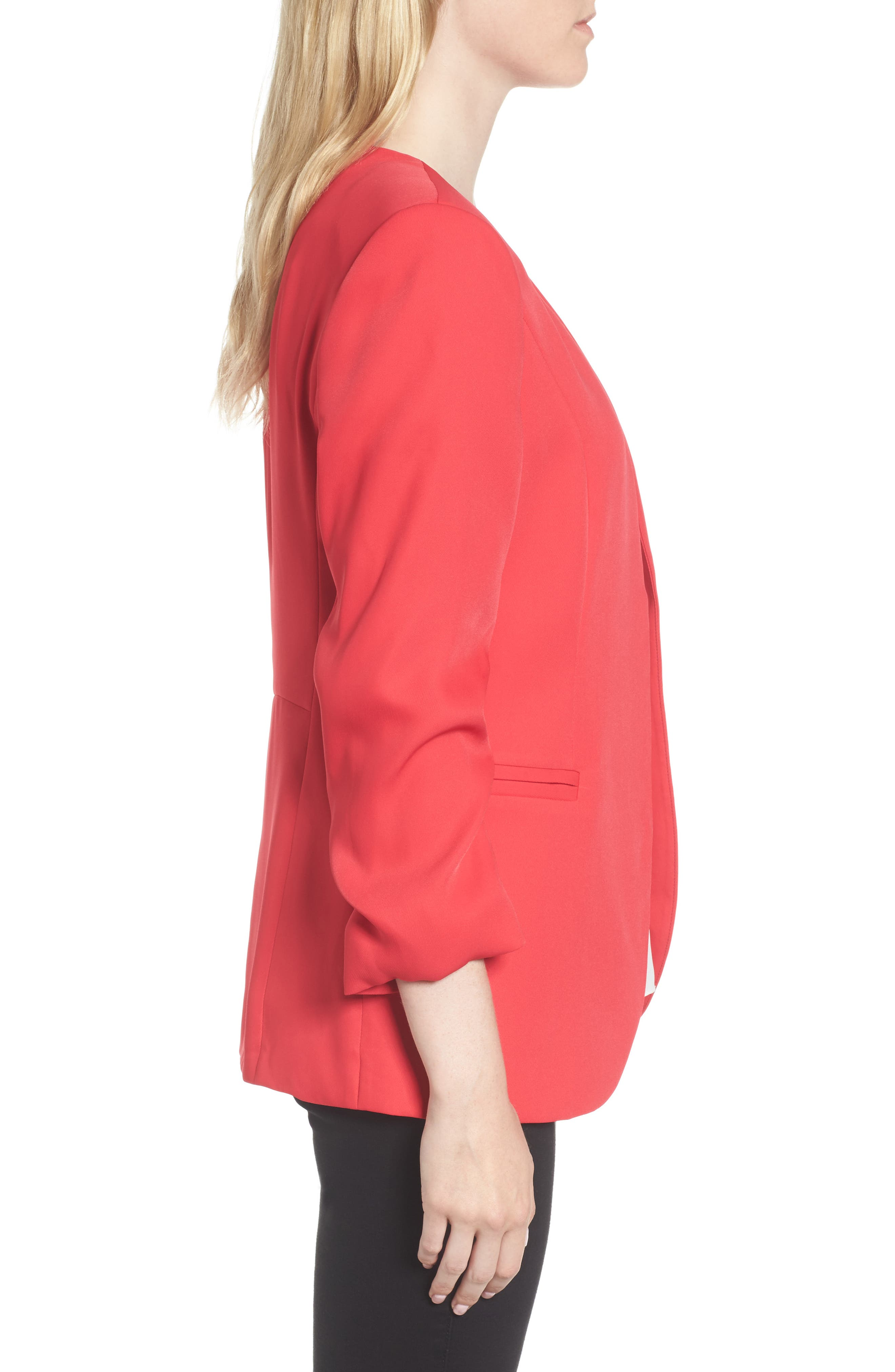 Ruched Sleeve Blazer,                             Alternate thumbnail 6, color,