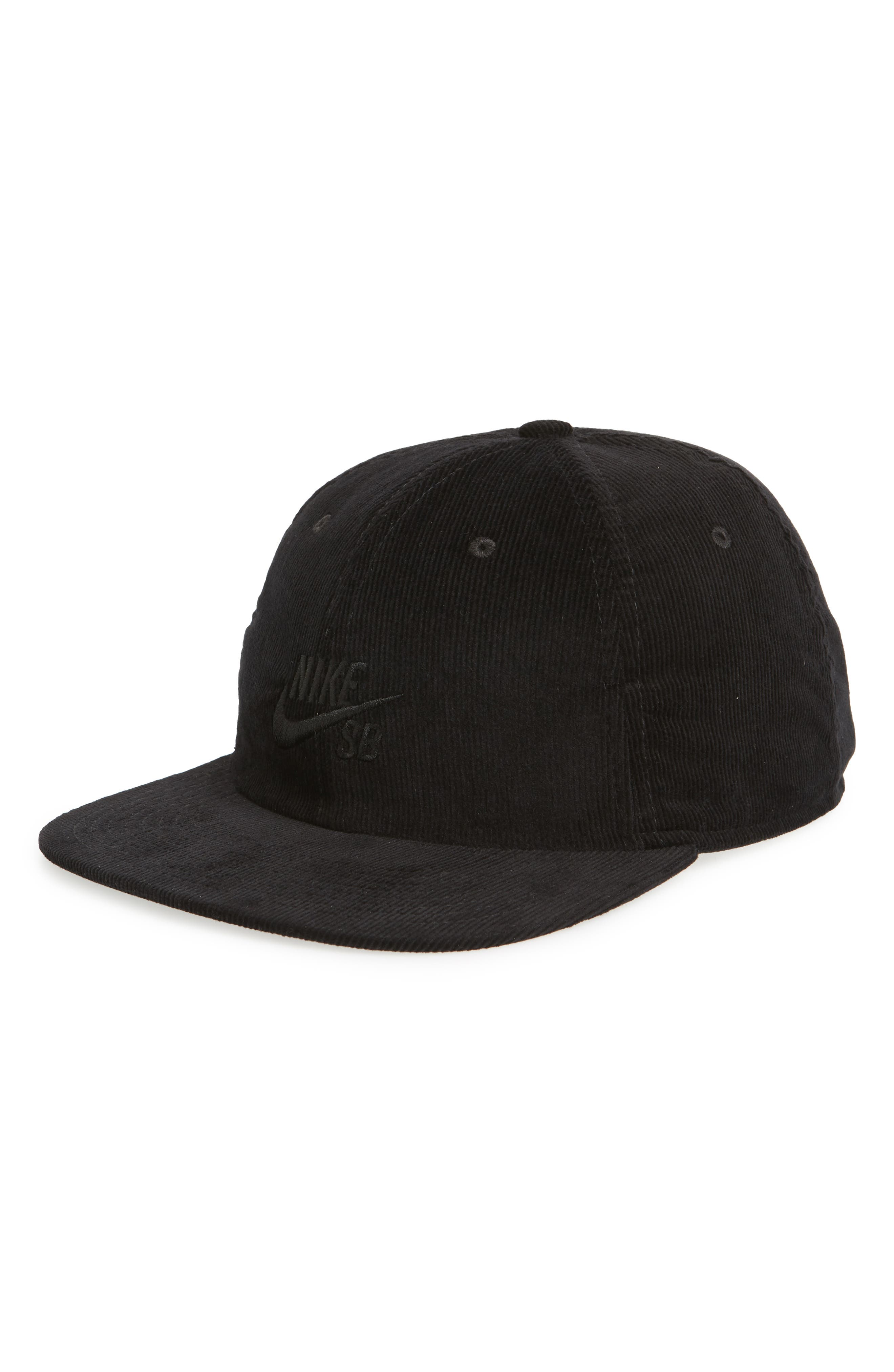 NIKE SB,                             H86 Flatbill Baseball Cap,                             Main thumbnail 1, color,                             BLACK/ BLACK