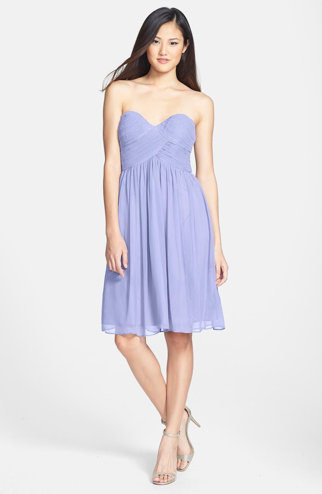 'Morgan' Strapless Silk Chiffon Dress,                             Main thumbnail 20, color,