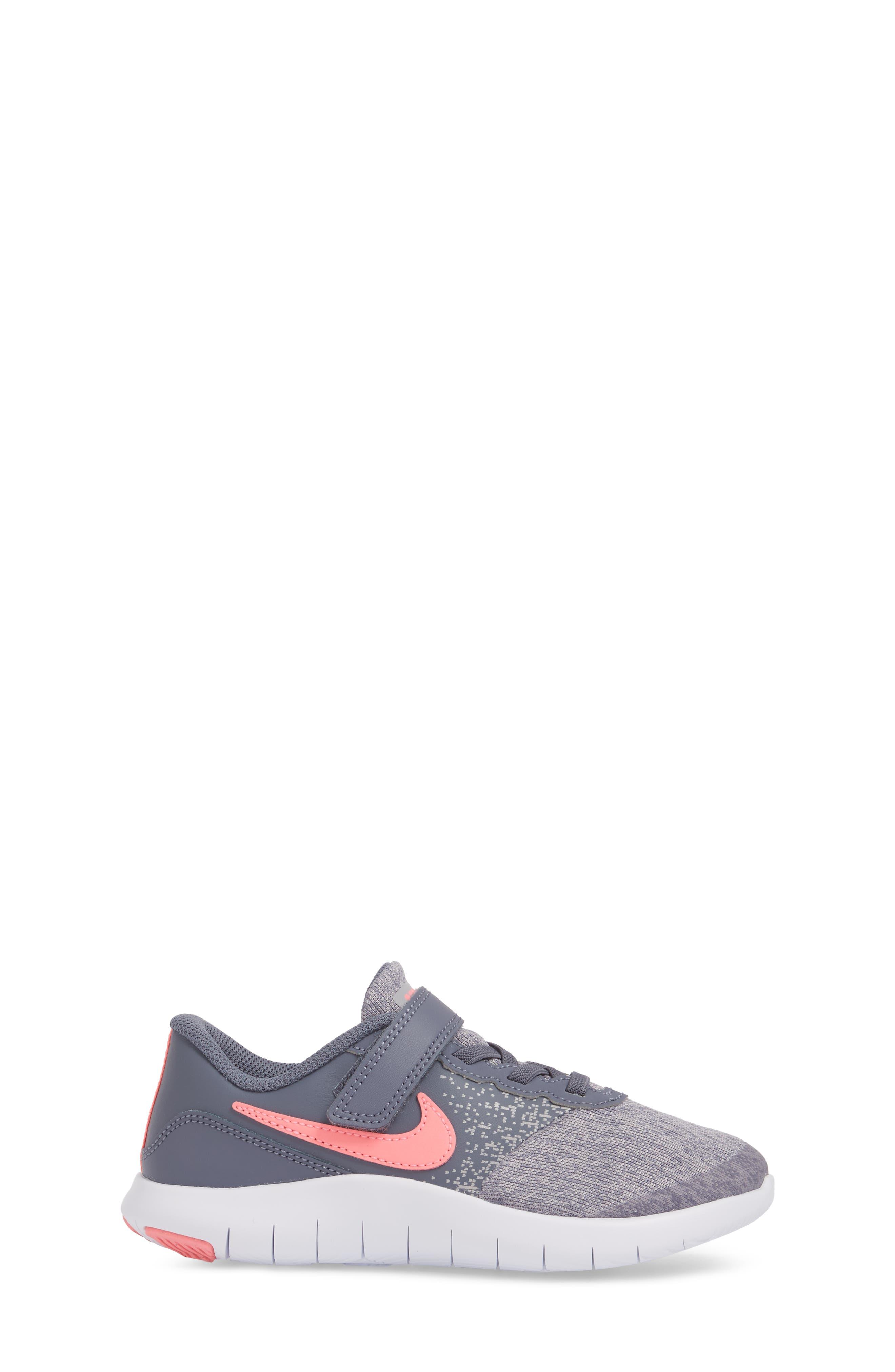 Flex Contact Running Shoe,                             Alternate thumbnail 3, color,                             LIGHT CARBON/ SUNSET PULSE