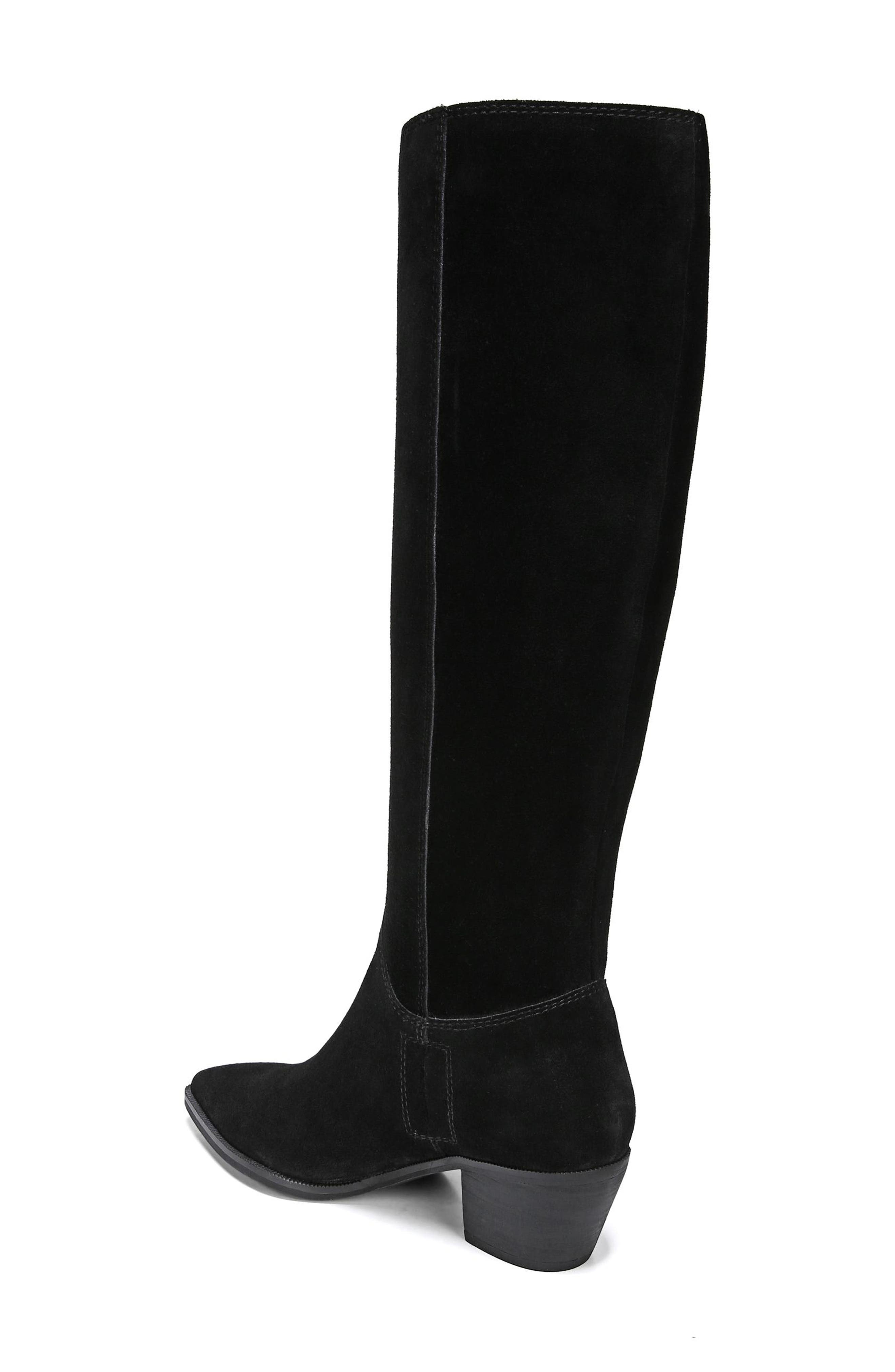 Rowena Knee High Boot,                             Alternate thumbnail 2, color,                             BLACK SUEDE