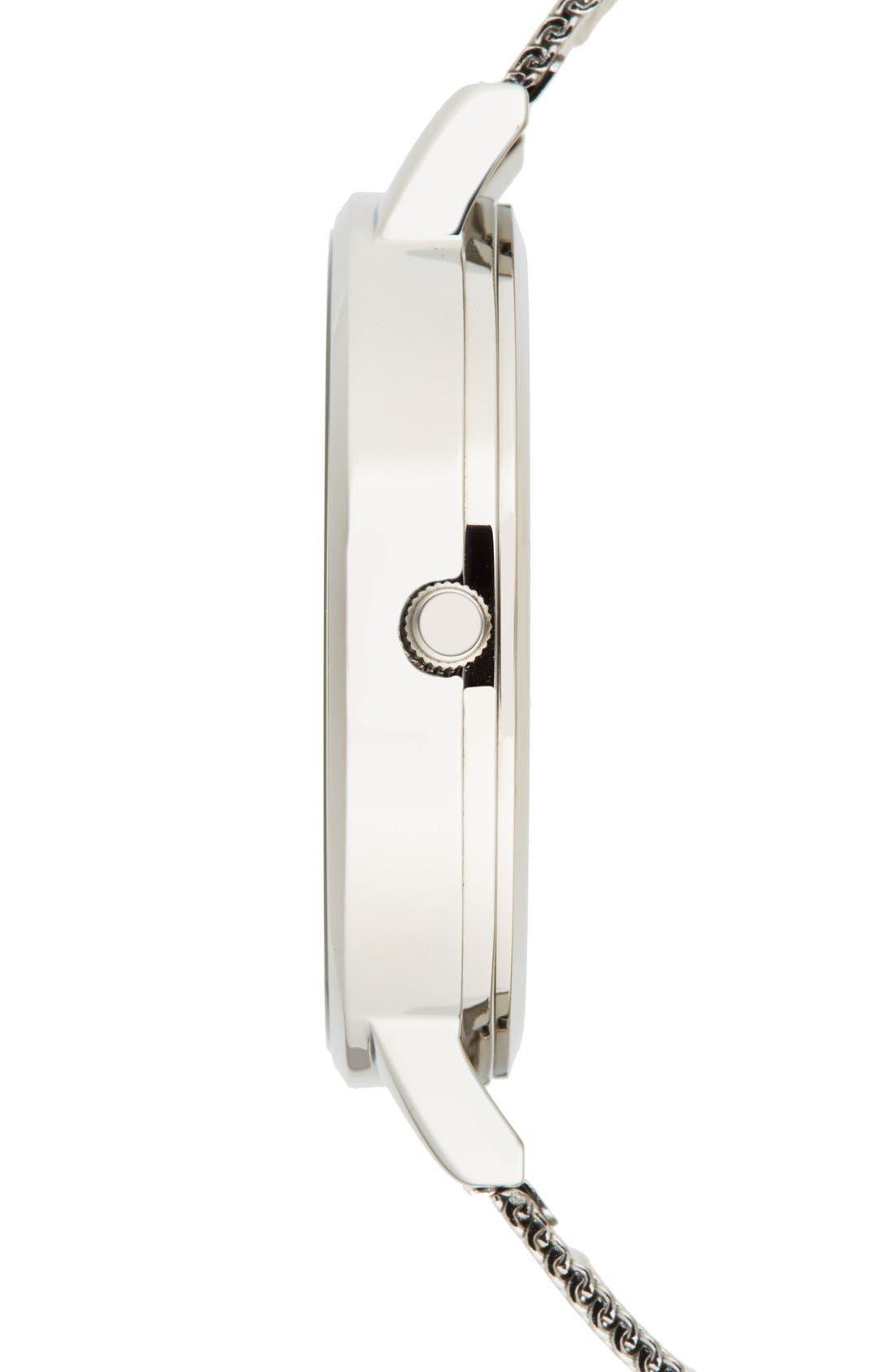 'Big Dial' Mesh Strap Watch, 38mm,                             Alternate thumbnail 36, color,