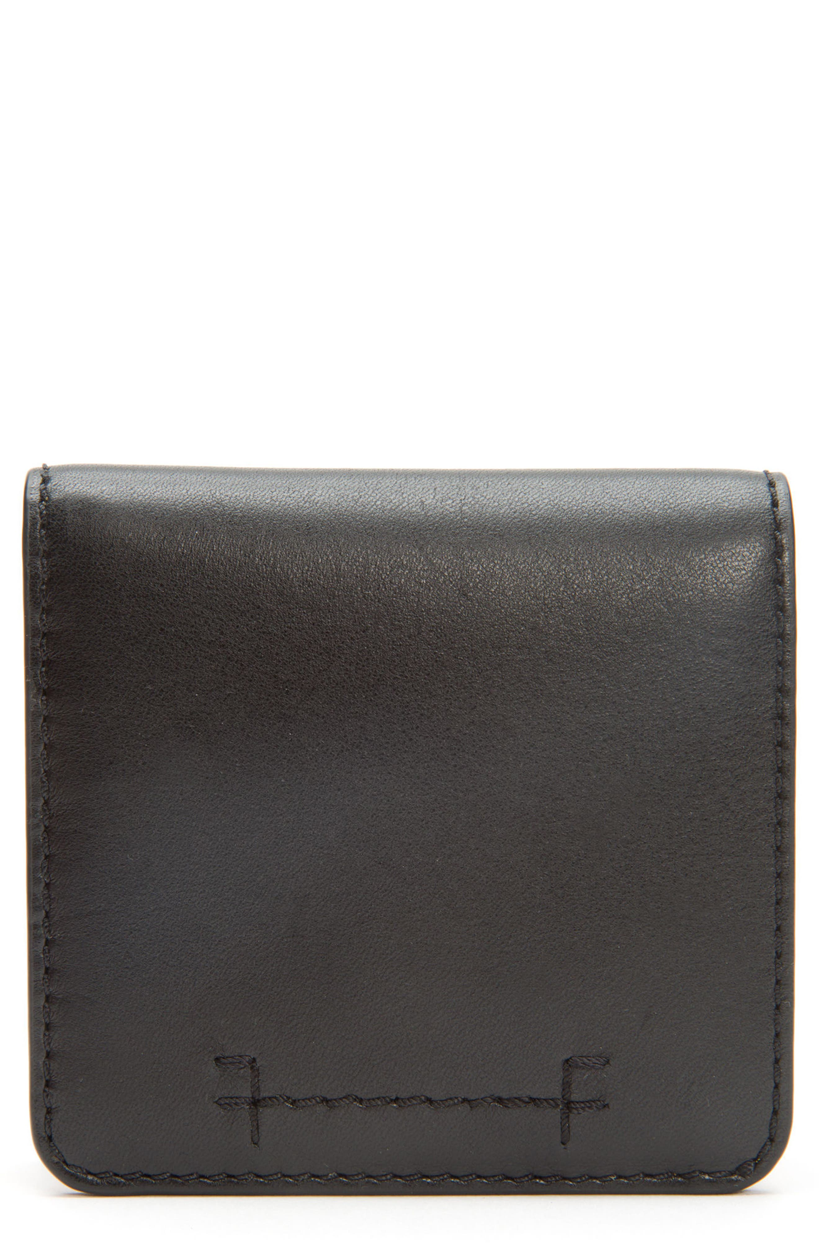 Carson Small Leather Wallet,                             Main thumbnail 1, color,                             001