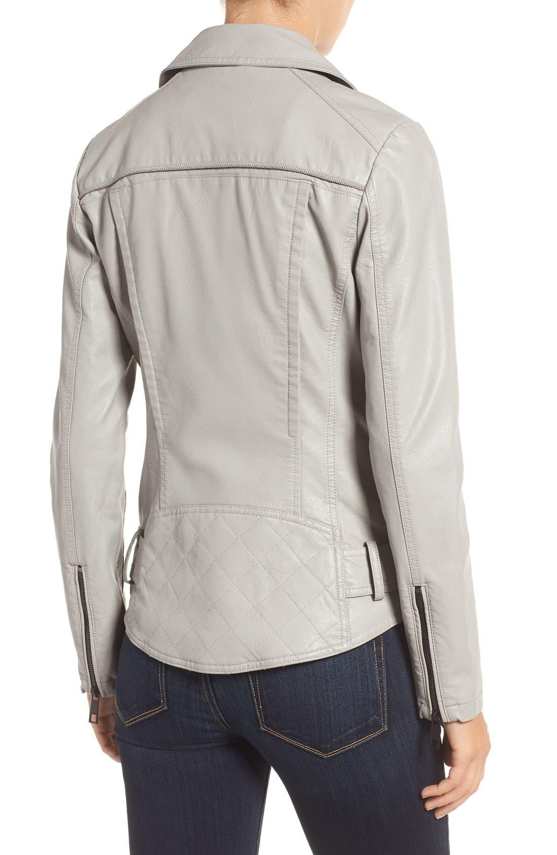 Faux Leather Moto Jacket,                             Alternate thumbnail 14, color,