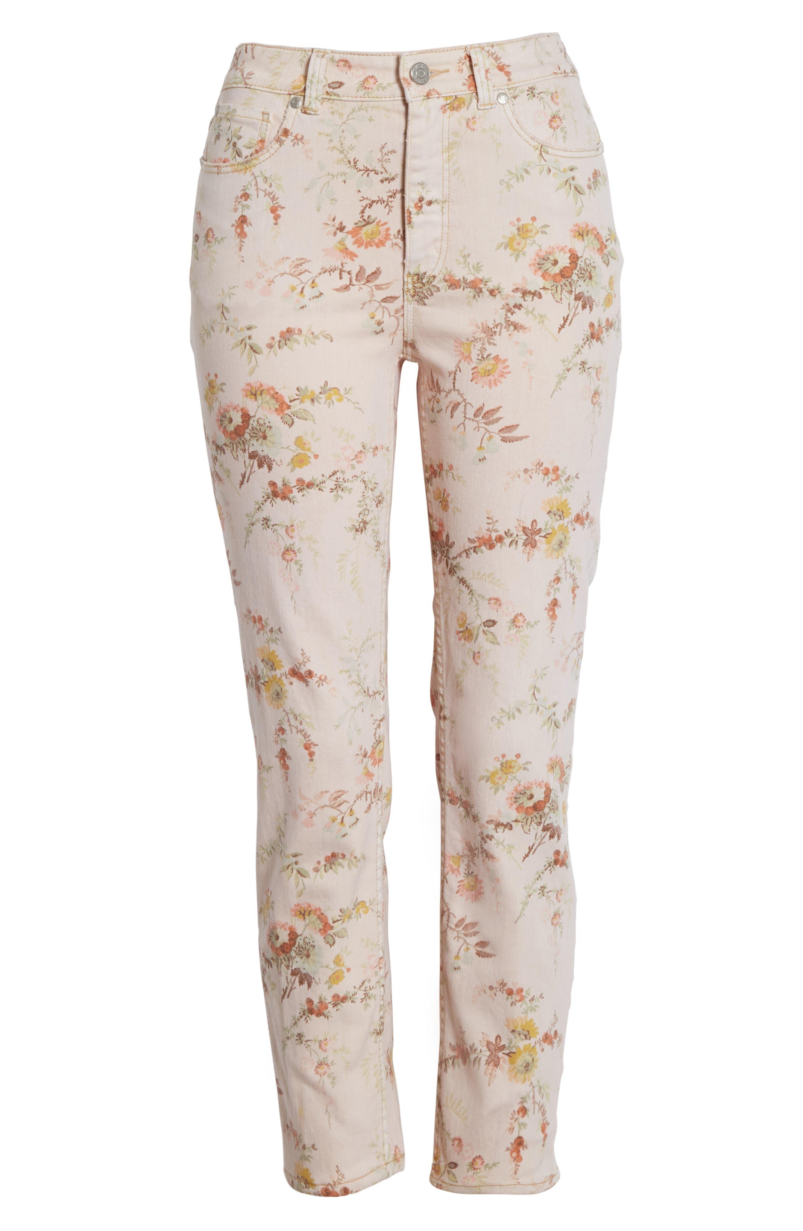 Belle Bouquet Ines Ankle Jeans,                             Alternate thumbnail 6, color,                             903