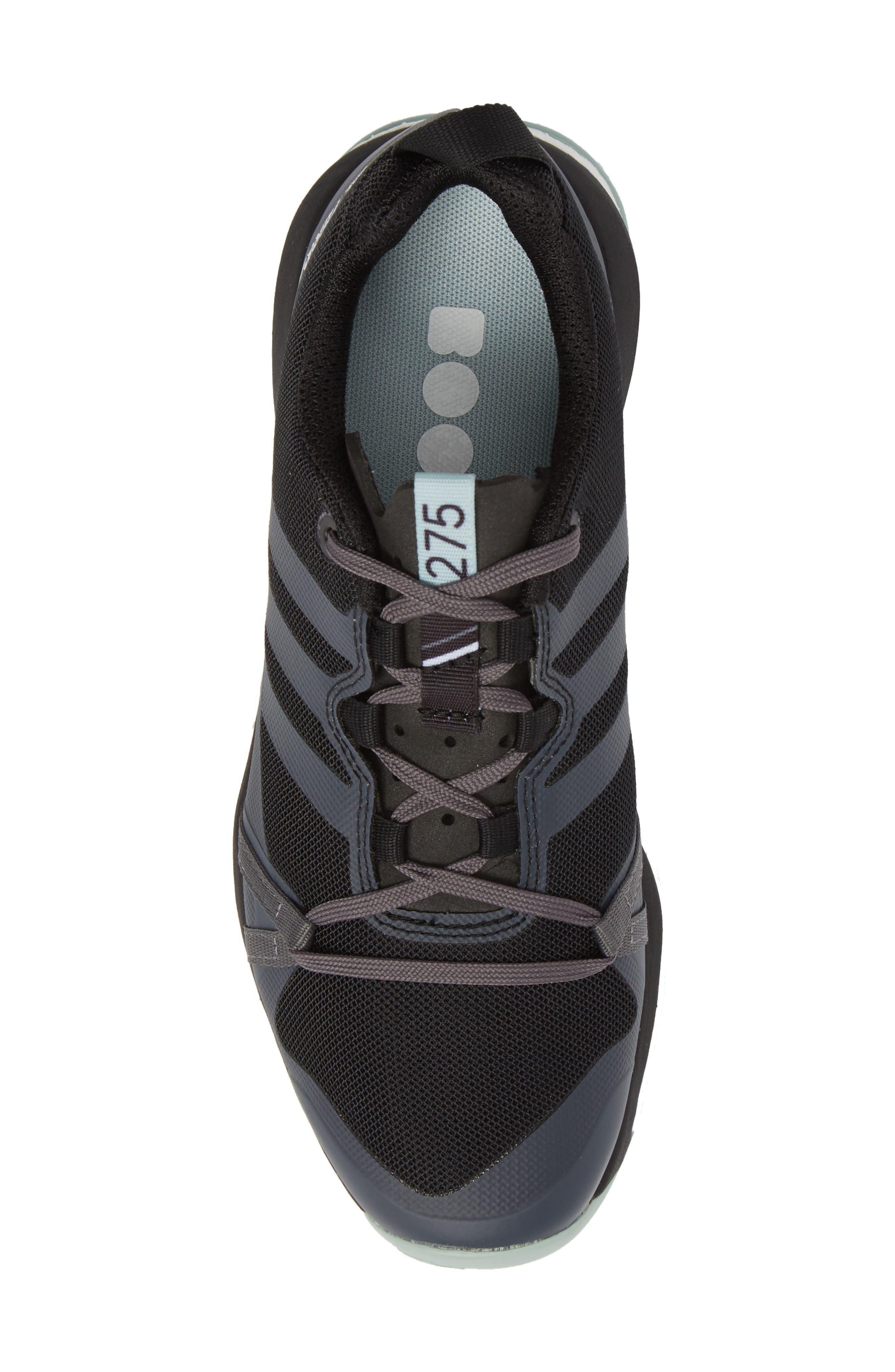 Terrex Agravic Trail Running Shoe,                             Alternate thumbnail 5, color,                             BLACK/ GREY THREE/ ASH GREEN