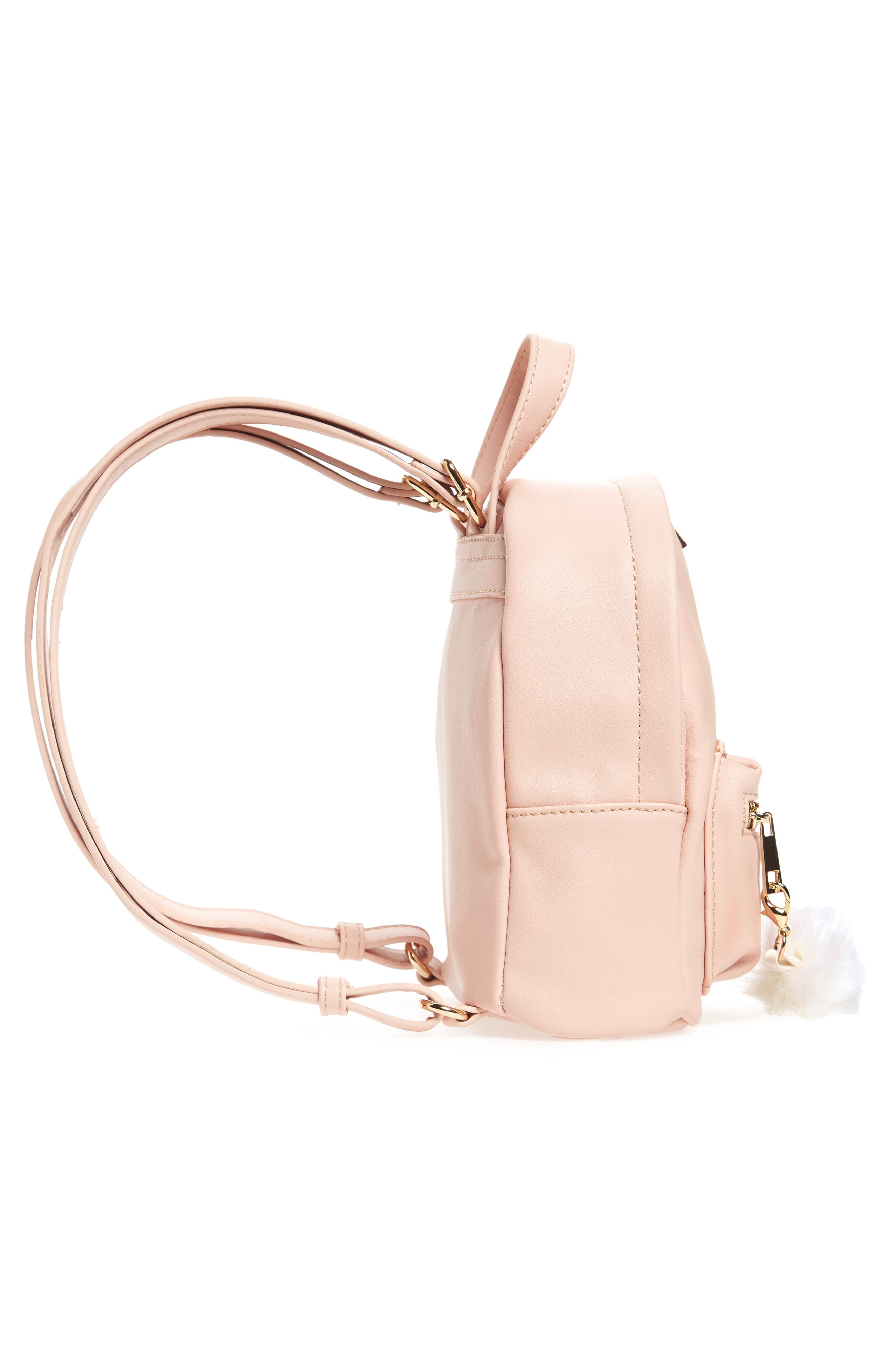 Faux Leather Mini Backpack,                             Alternate thumbnail 40, color,