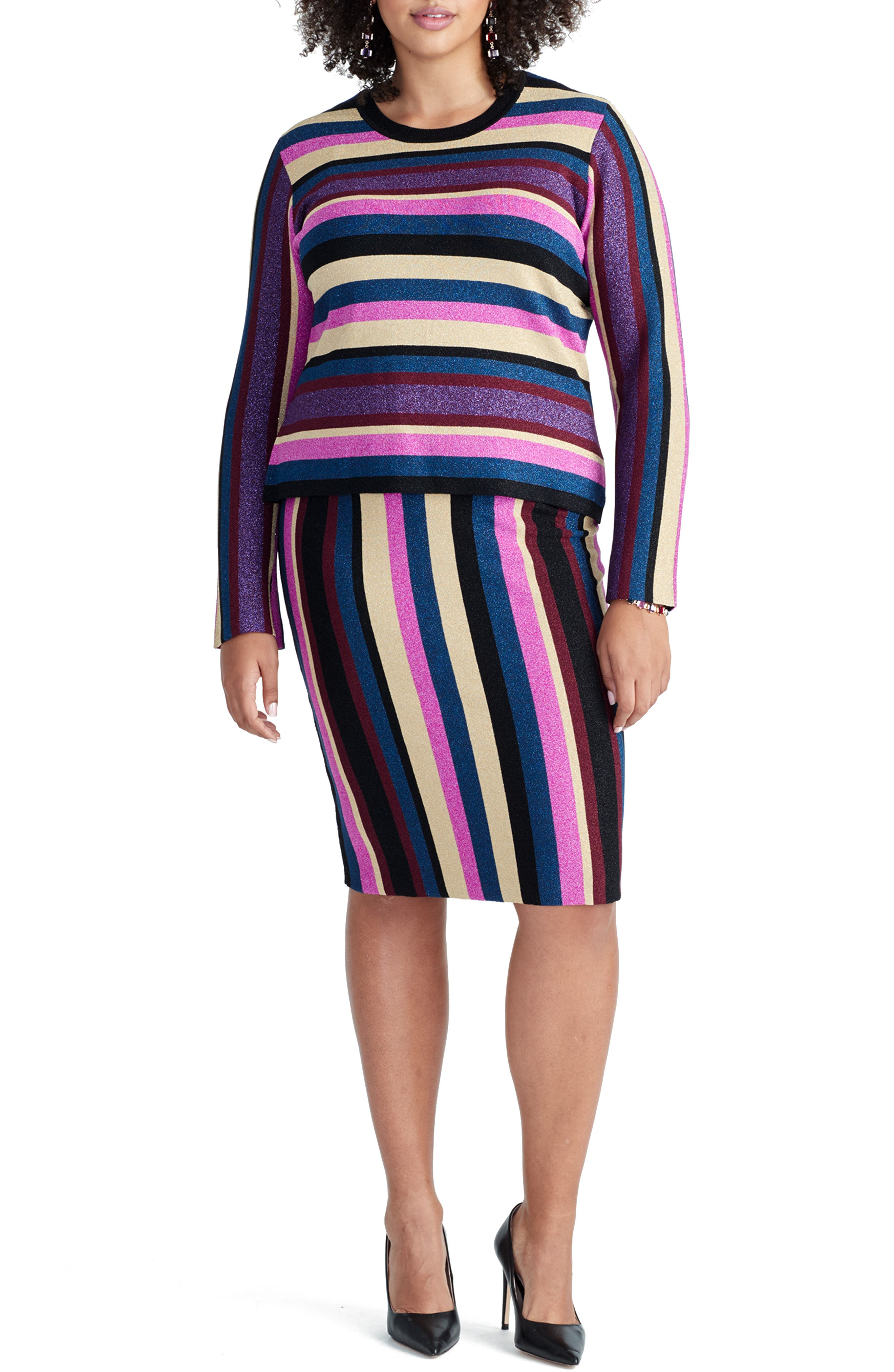 Veda Sweater, Main, color, STRIPE COMBO