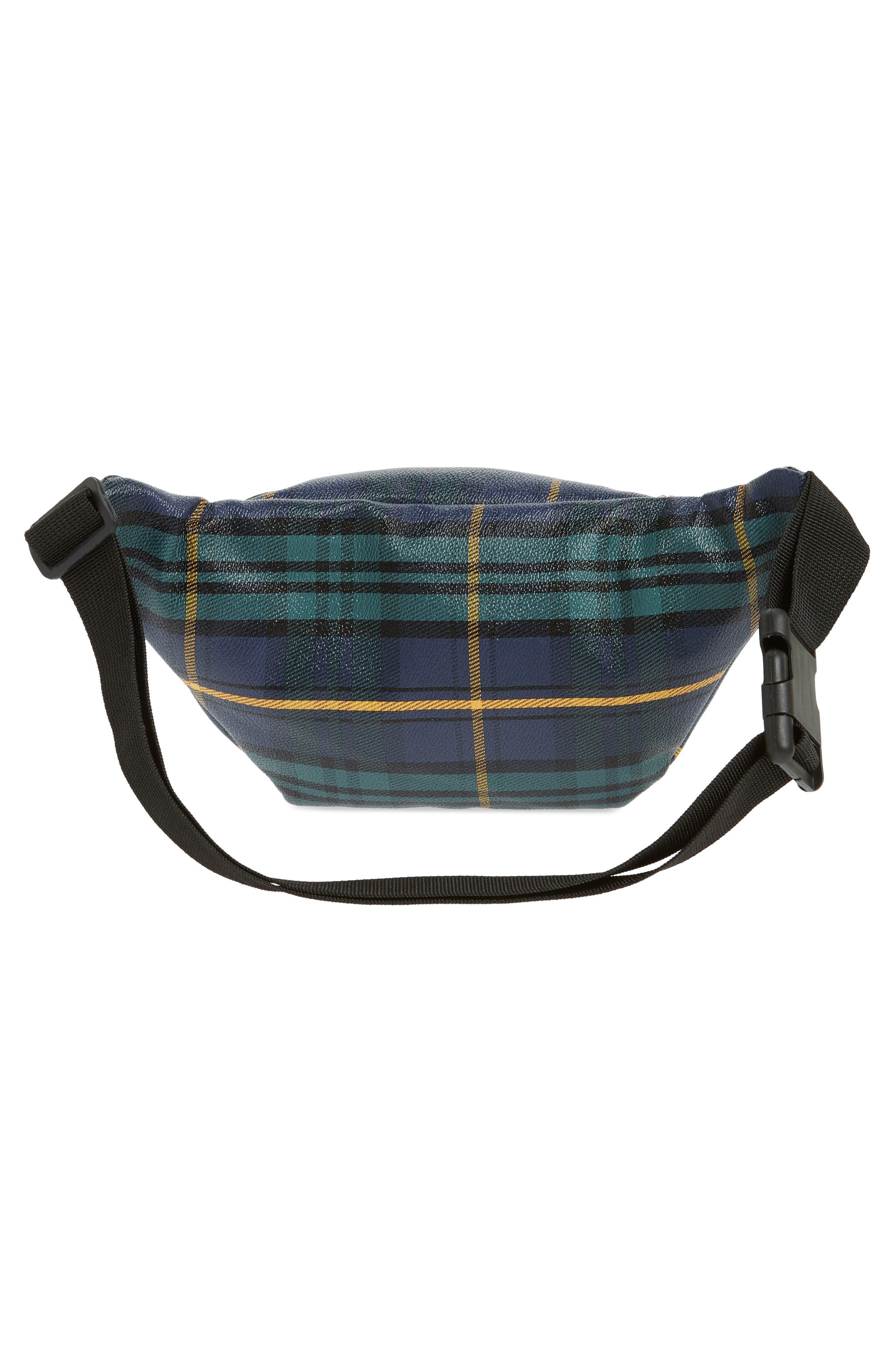 Jane & Berry Plaid Belt Bag,                             Alternate thumbnail 4, color,                             300