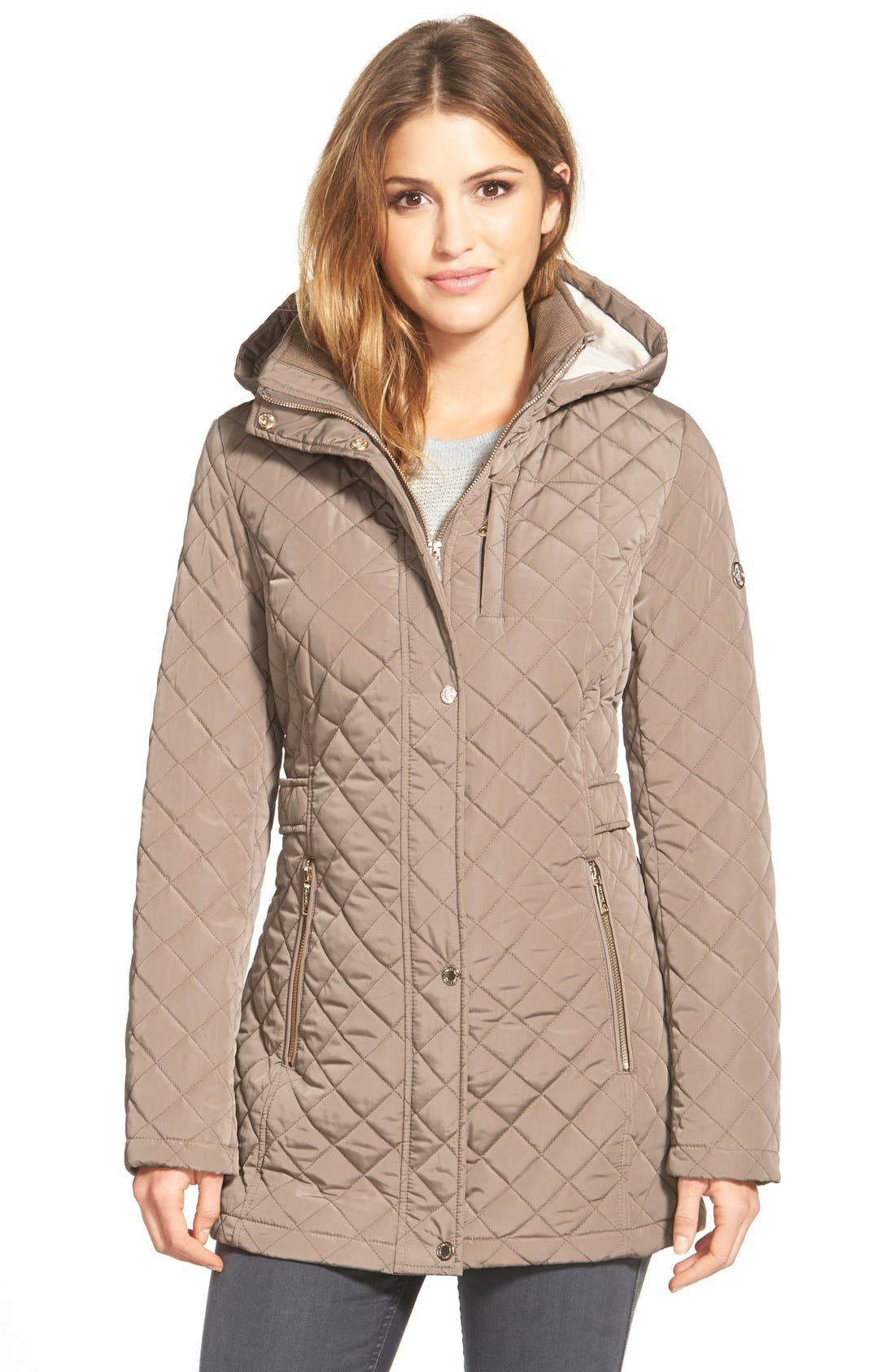 Hooded Quilted Jacket,                             Main thumbnail 2, color,