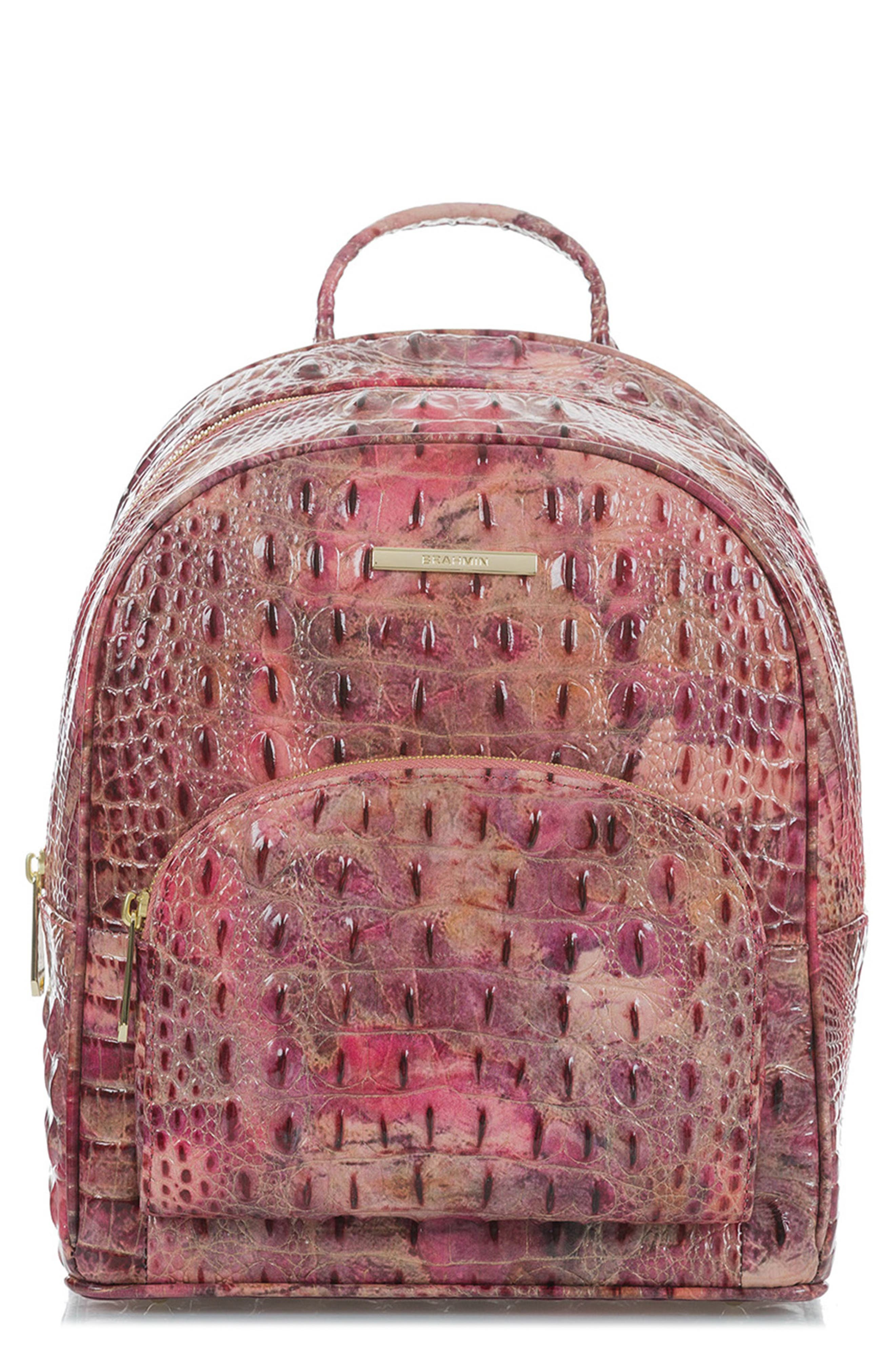 Mini Dartmouth Leather Backpack,                             Main thumbnail 1, color,                             WISTERIA
