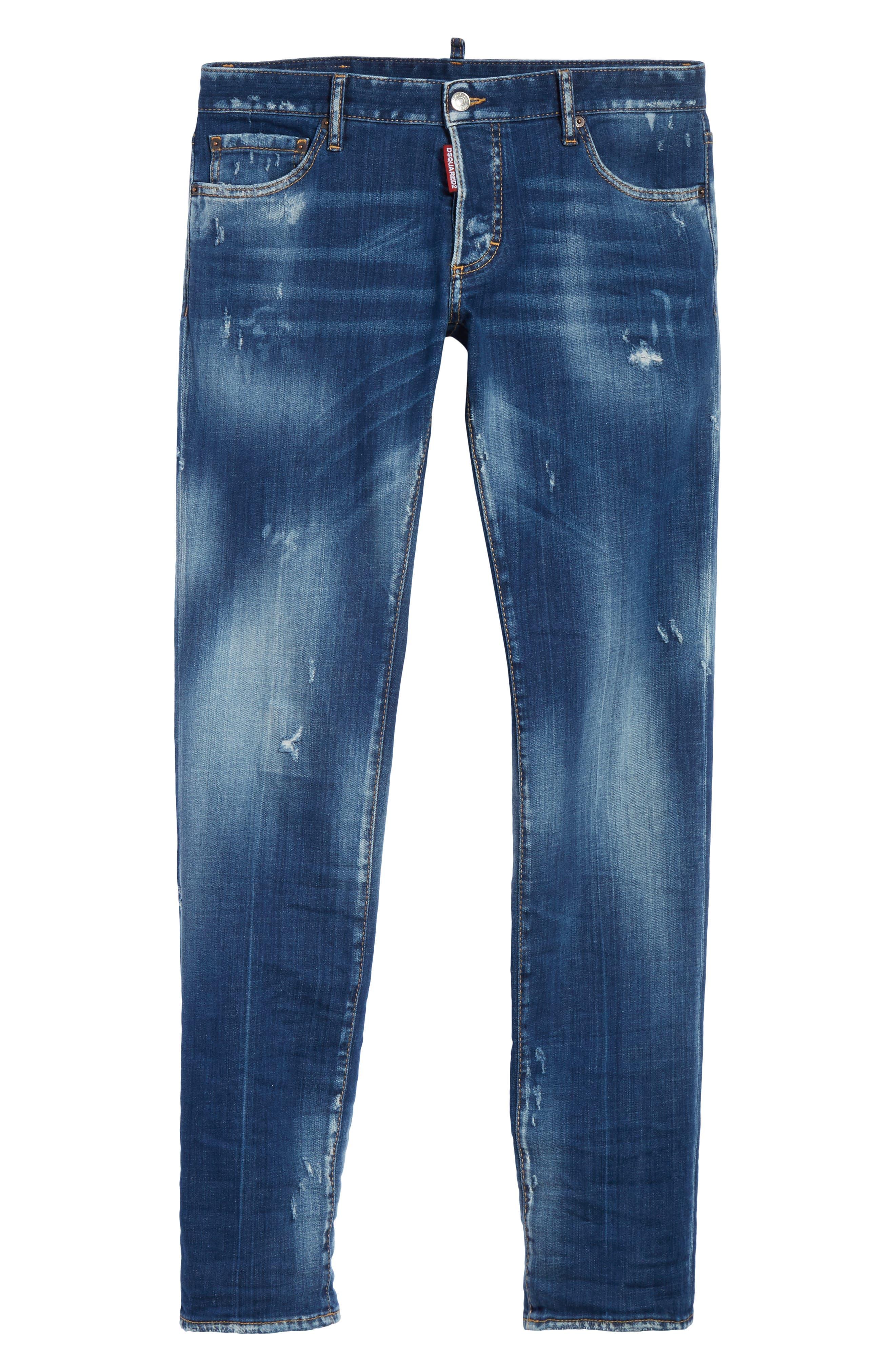 Slim Fit Medium Wash Jeans,                             Alternate thumbnail 6, color,                             414