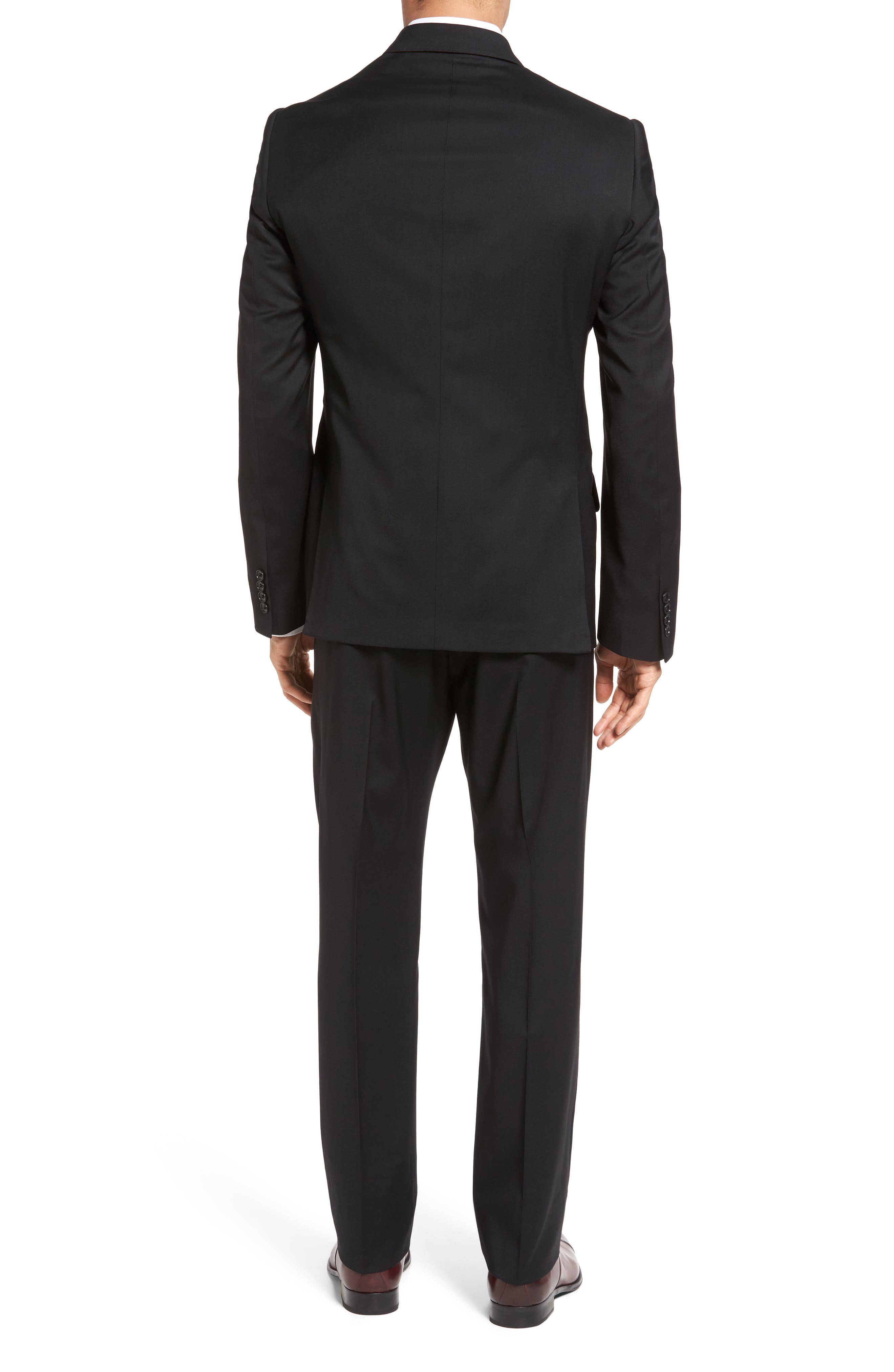 Classic Fit Solid Wool Suit,                             Alternate thumbnail 2, color,                             001