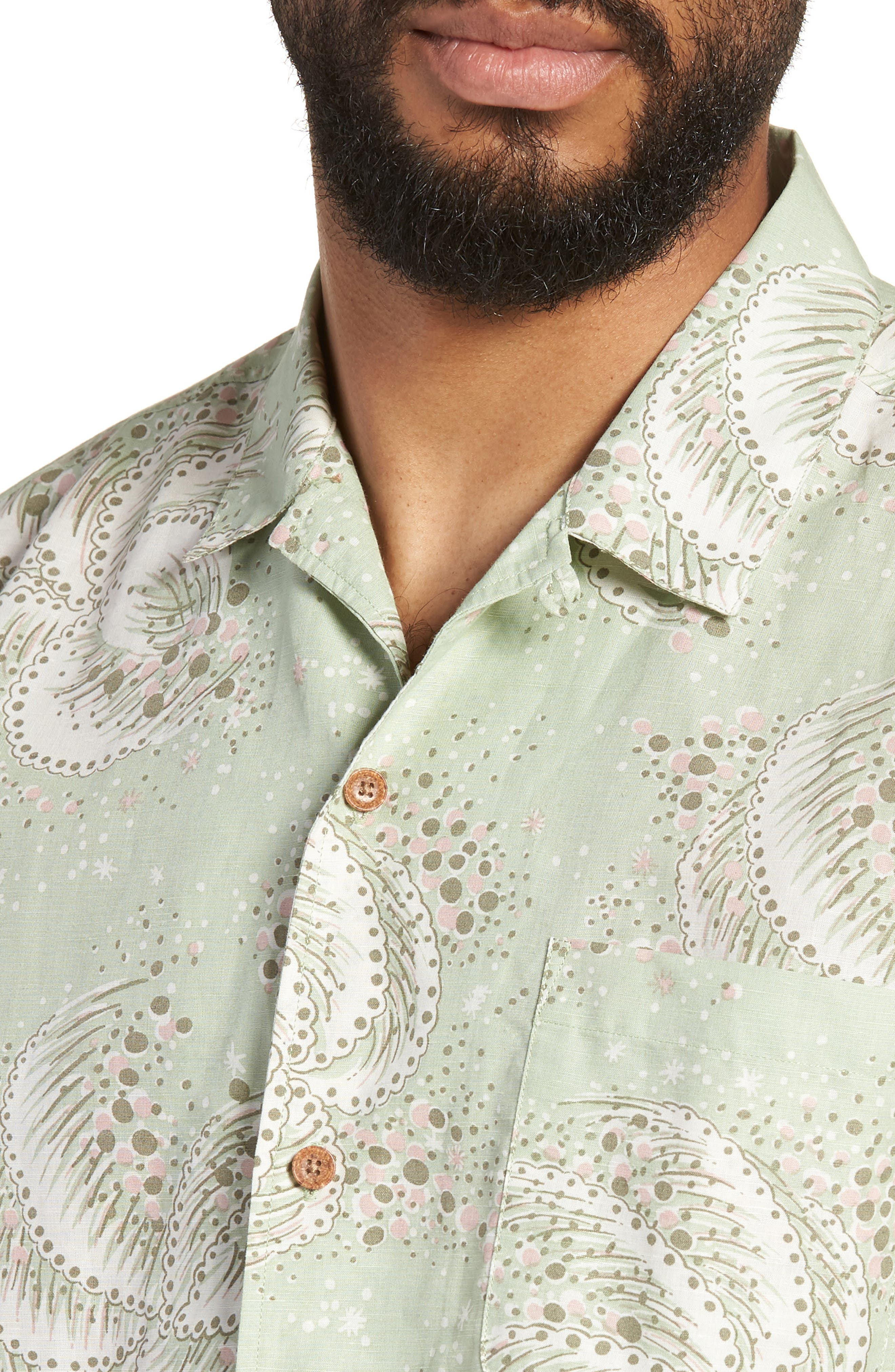 Malick Slim Fit Print Sport Shirt,                             Alternate thumbnail 4, color,                             300